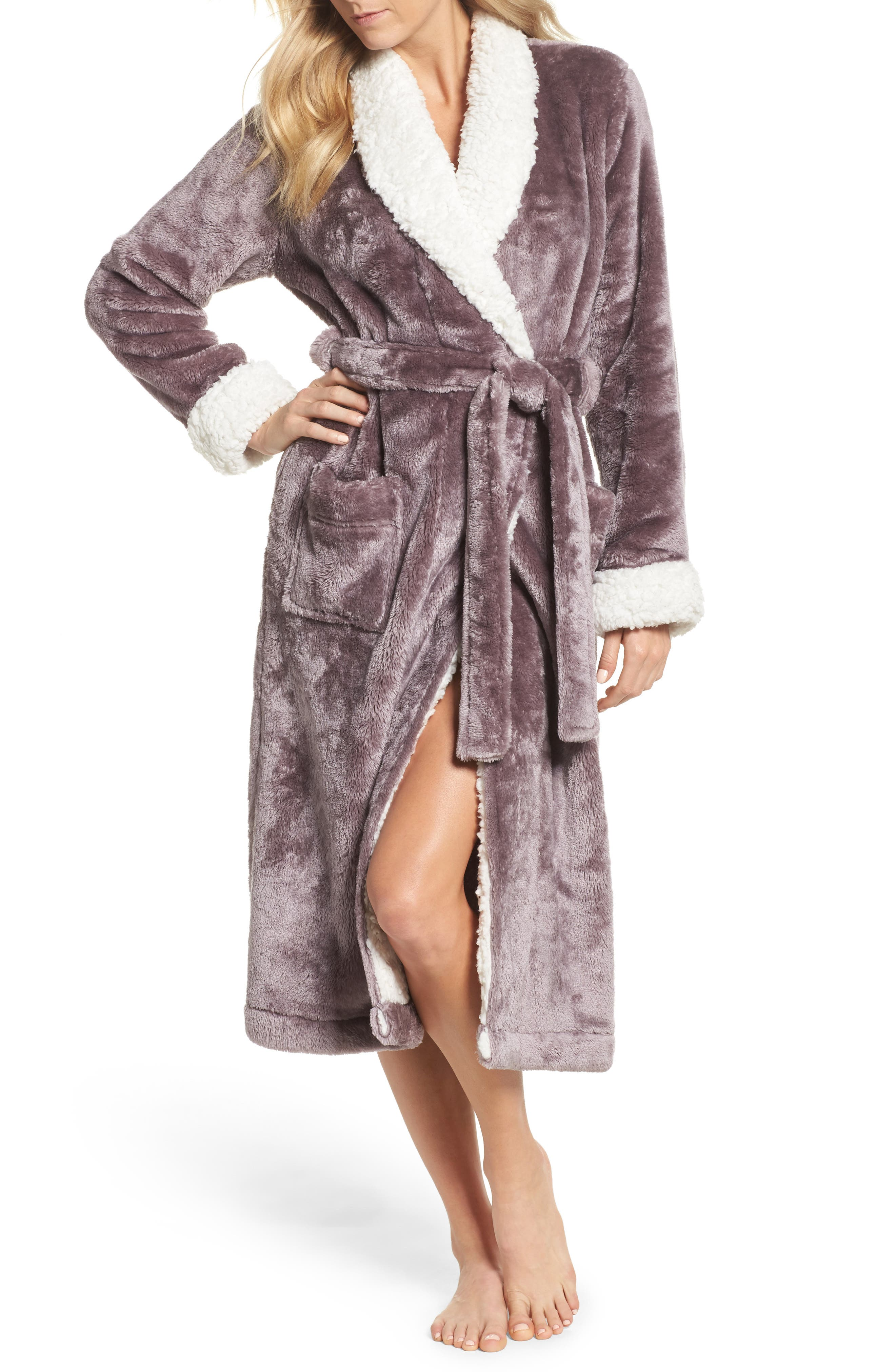 Frosted Plush Robe,                             Main thumbnail 6, color,