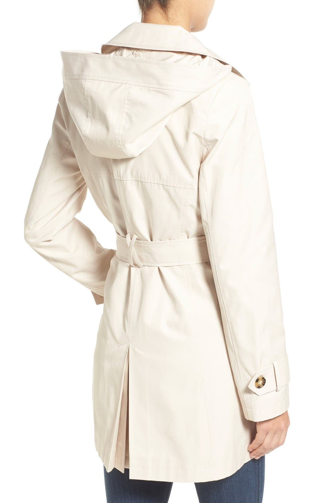 Detachable Hood Trench Coat,                             Alternate thumbnail 28, color,