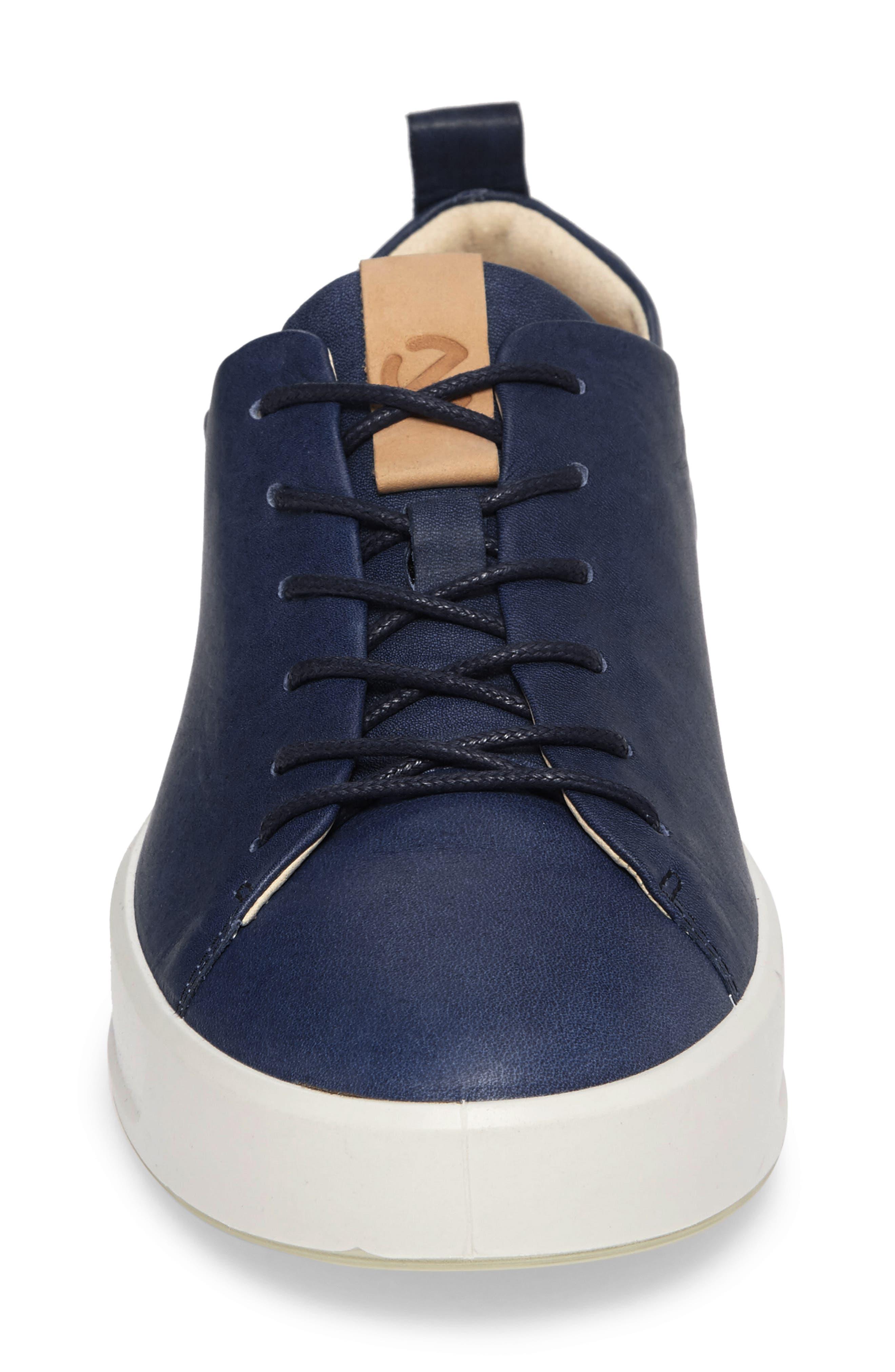 Soft 8 Sneaker,                             Alternate thumbnail 4, color,                             INDIGO 7 LEATHER