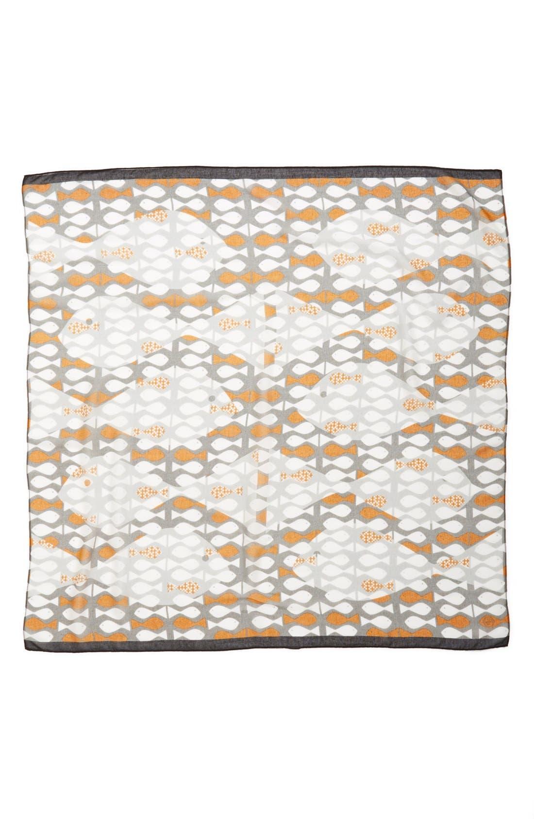 JONATHAN ADLER,                             'Neptune' Square Modal & Silk Scarf,                             Alternate thumbnail 2, color,                             200