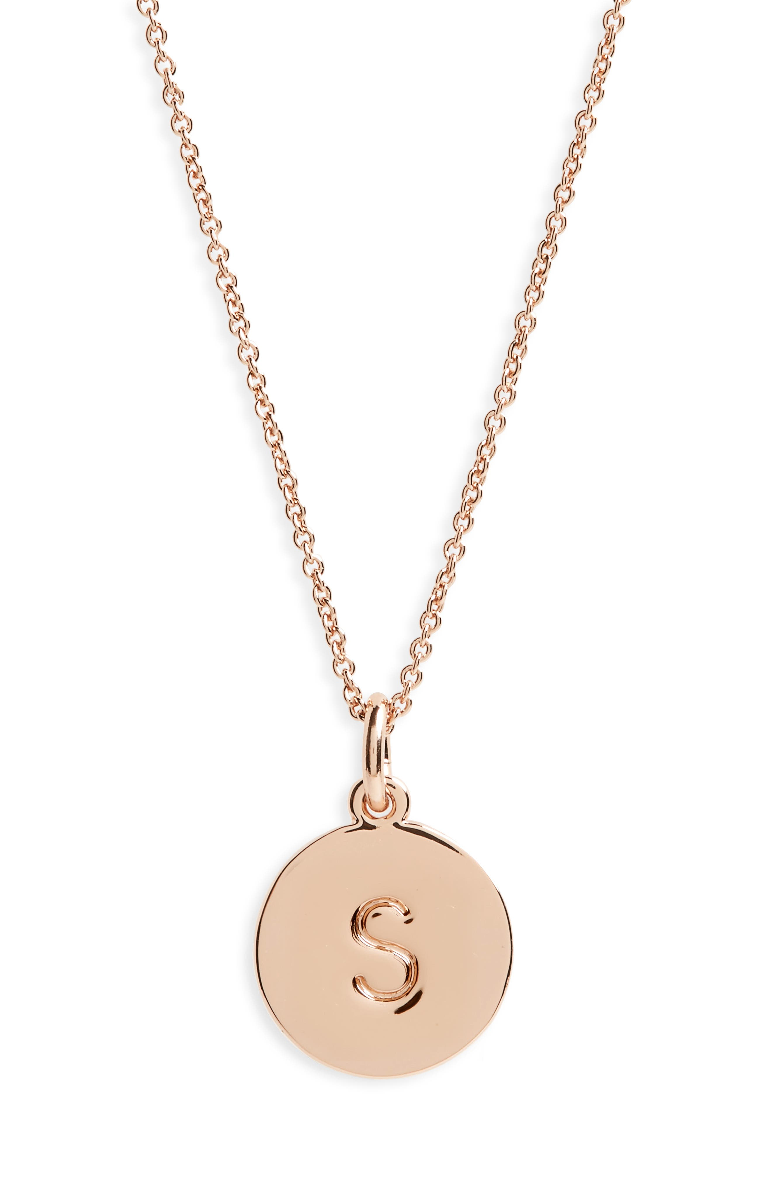 one in a million pendant necklace,                         Main,                         color, S/ ROSE GOLD