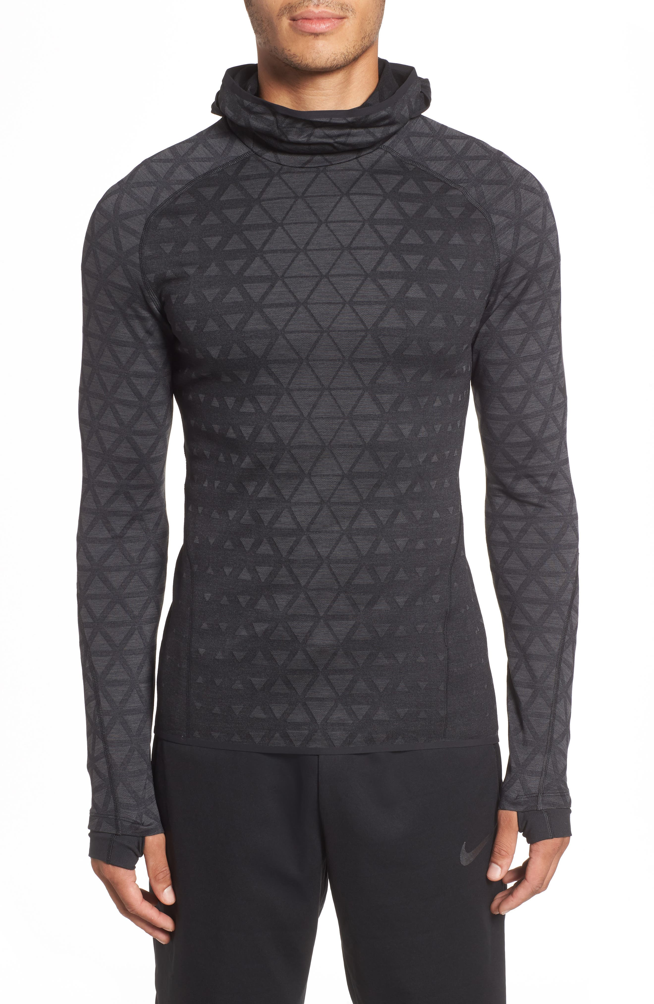 Therma Sphere Hooded Training Top,                         Main,                         color, BLACK/ ANTHRACITE/ ANTHRACITE