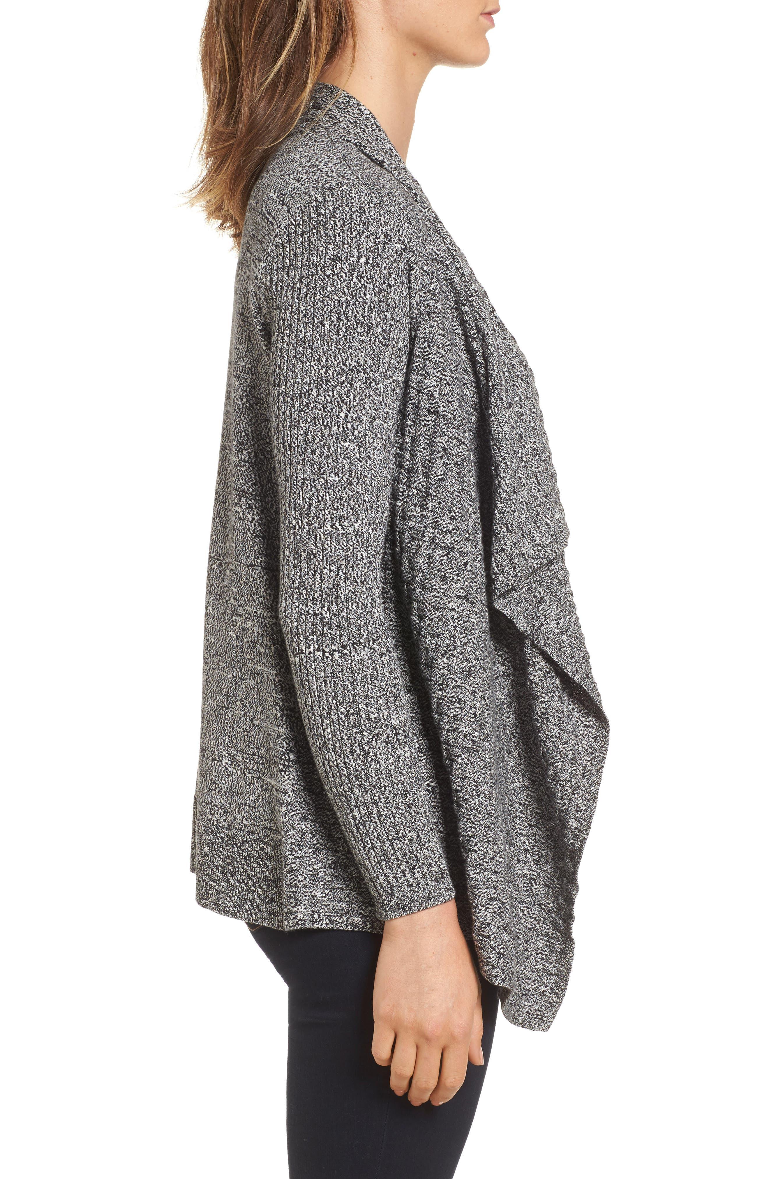 Mixed Cotton Knit Cardigan,                             Alternate thumbnail 3, color,                             005