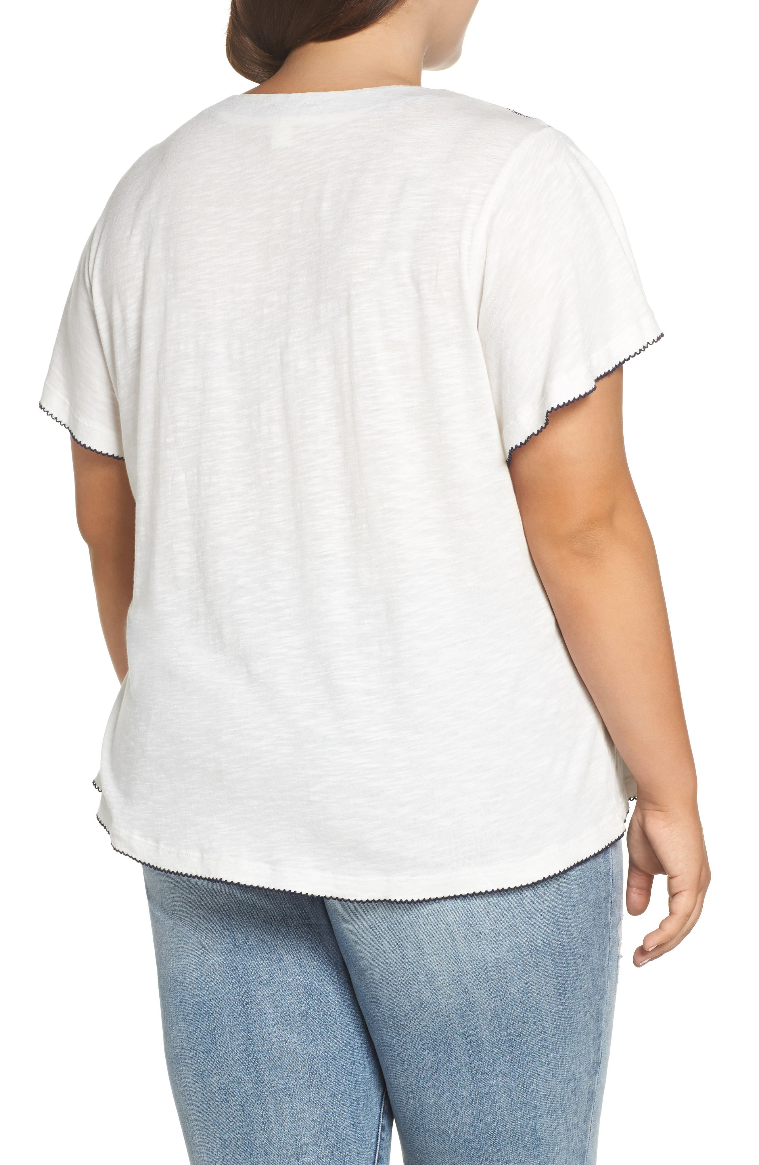 Embroidered Tee,                             Alternate thumbnail 2, color,                             410