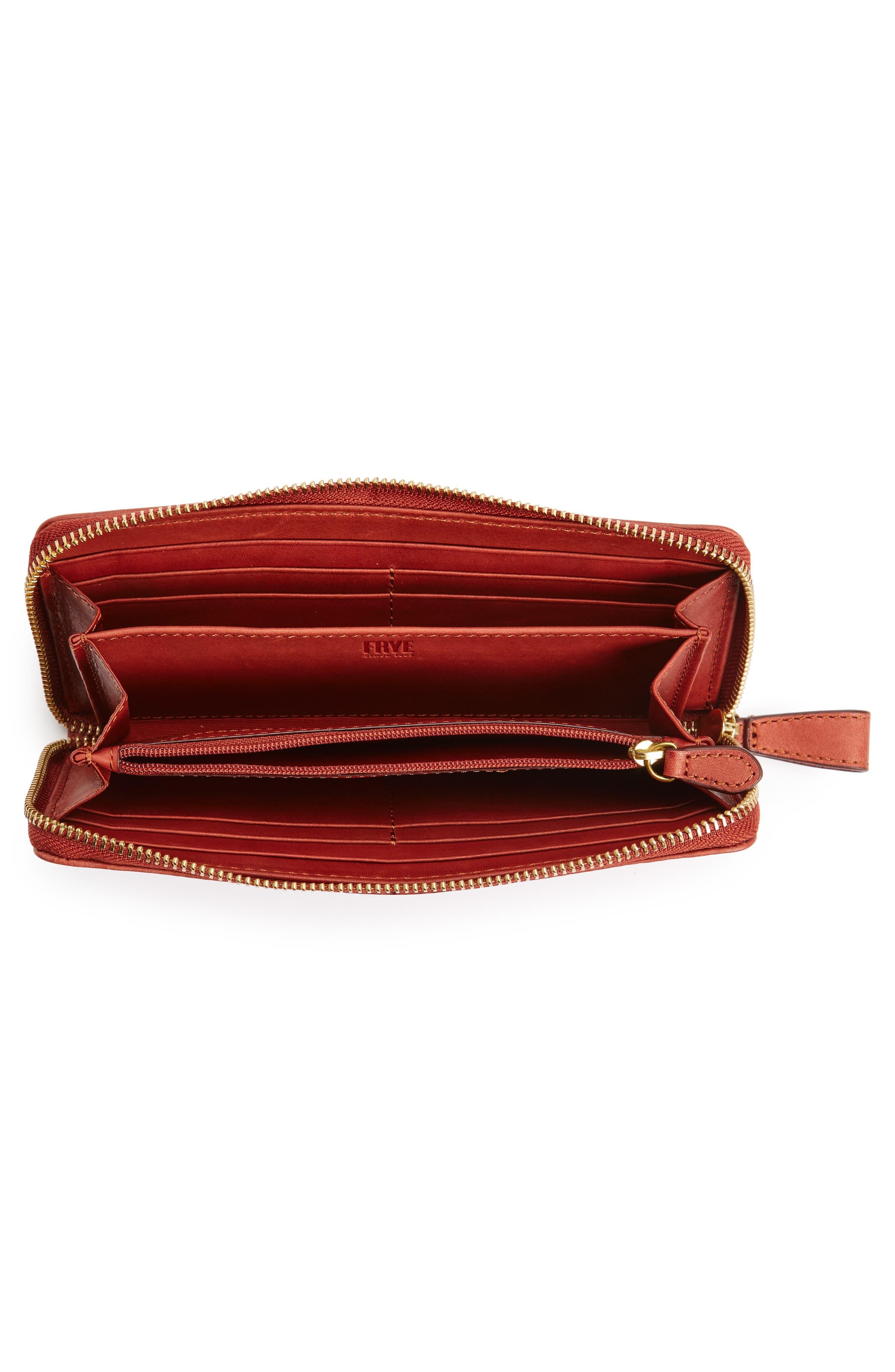 Campus Rivet Leather Continental Zip Wallet,                             Alternate thumbnail 12, color,