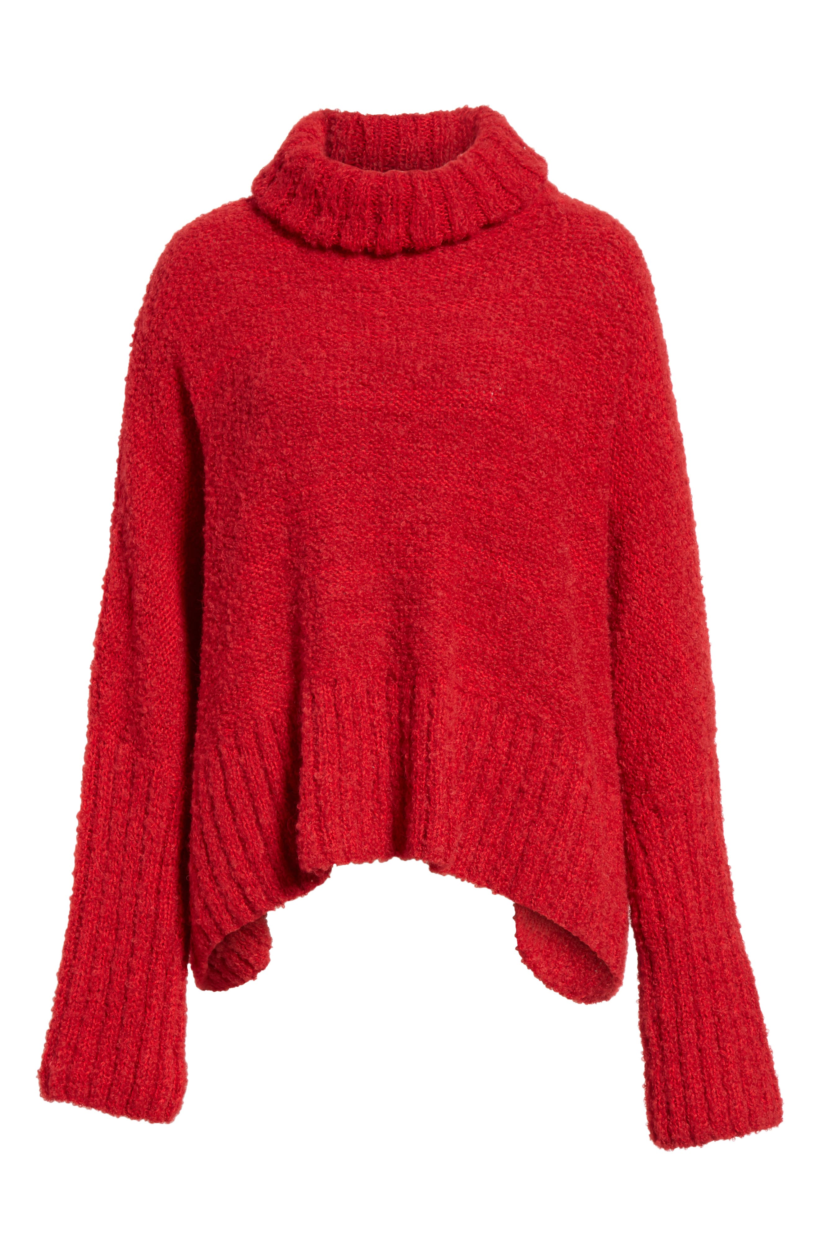 Alpaca & Wool Blend Swing Turtleneck,                             Alternate thumbnail 6, color,                             600