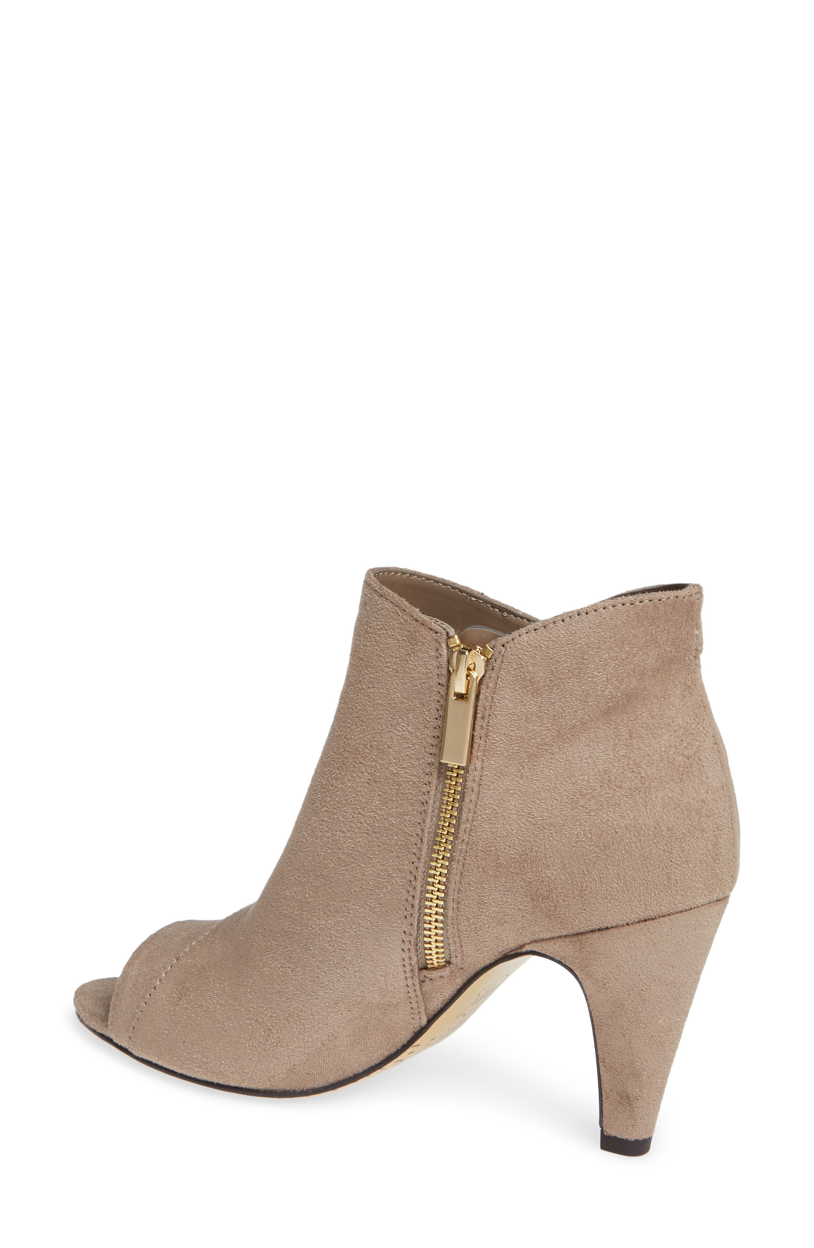 Nicolette Ruffle Dress Bootie,                             Alternate thumbnail 2, color,                             STONE SUEDE