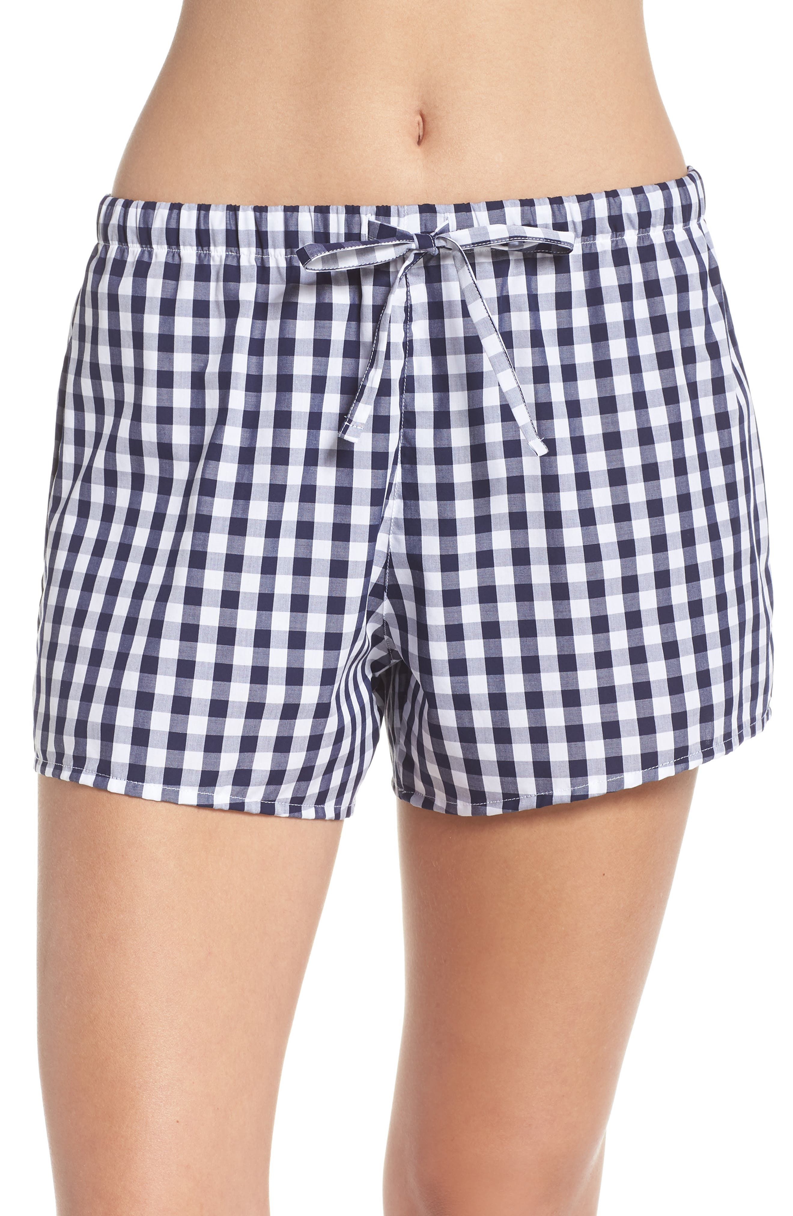 Paloma Women's Pajama Shorts,                             Alternate thumbnail 2, color,                             LARGE GINGHAM BLUE