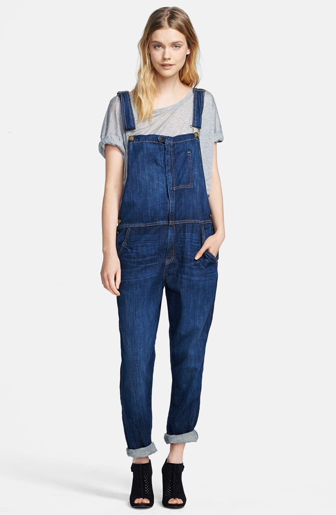 CURRENT/ELLIOTT 'The Ranch Hand' Overalls, Main, color, 464