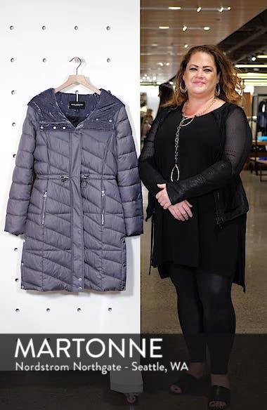 Velvet Trim Quilted Coat, sales video thumbnail