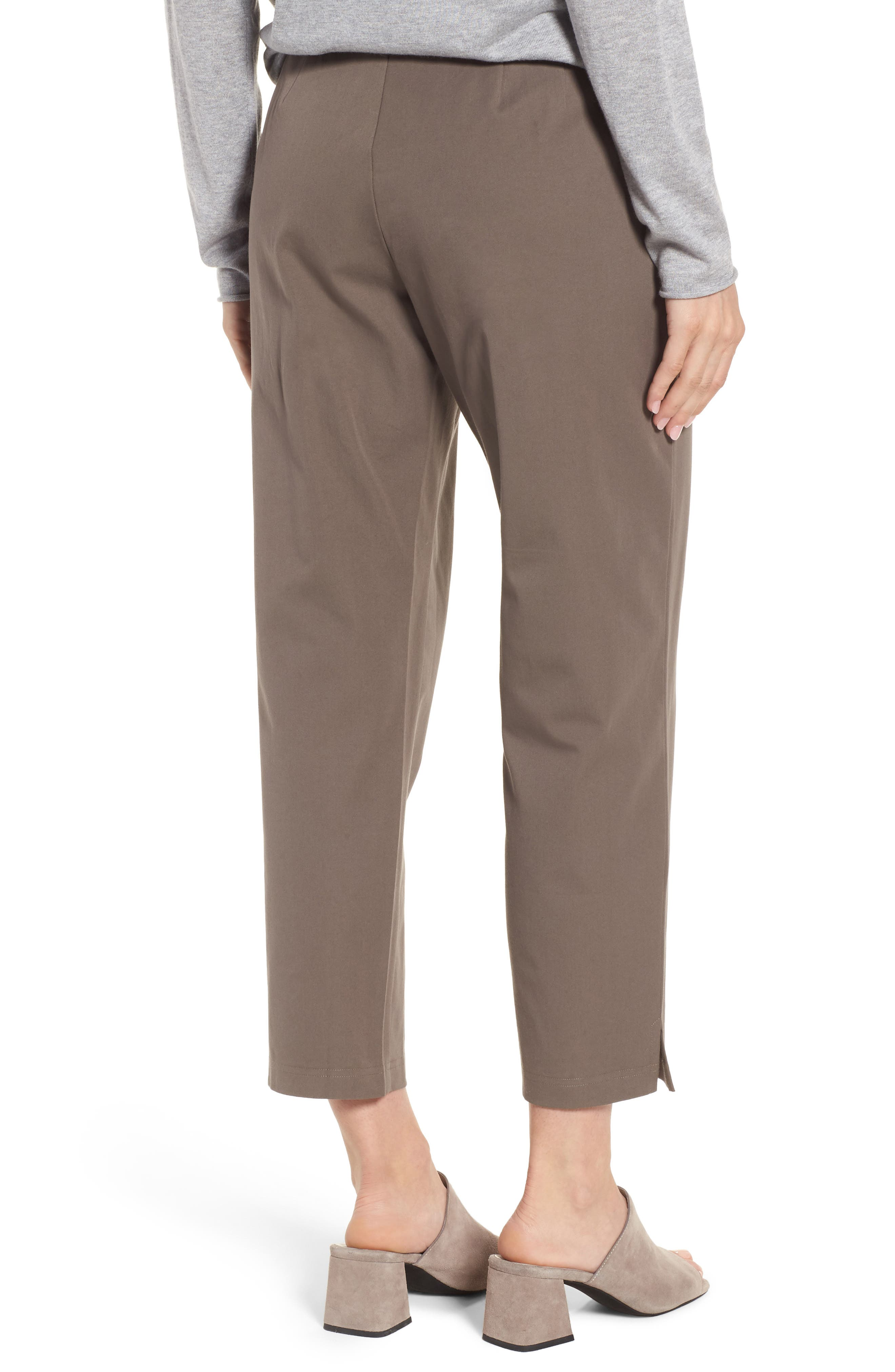 Organic Stretch Cotton Twill Ankle Pants,                             Alternate thumbnail 25, color,