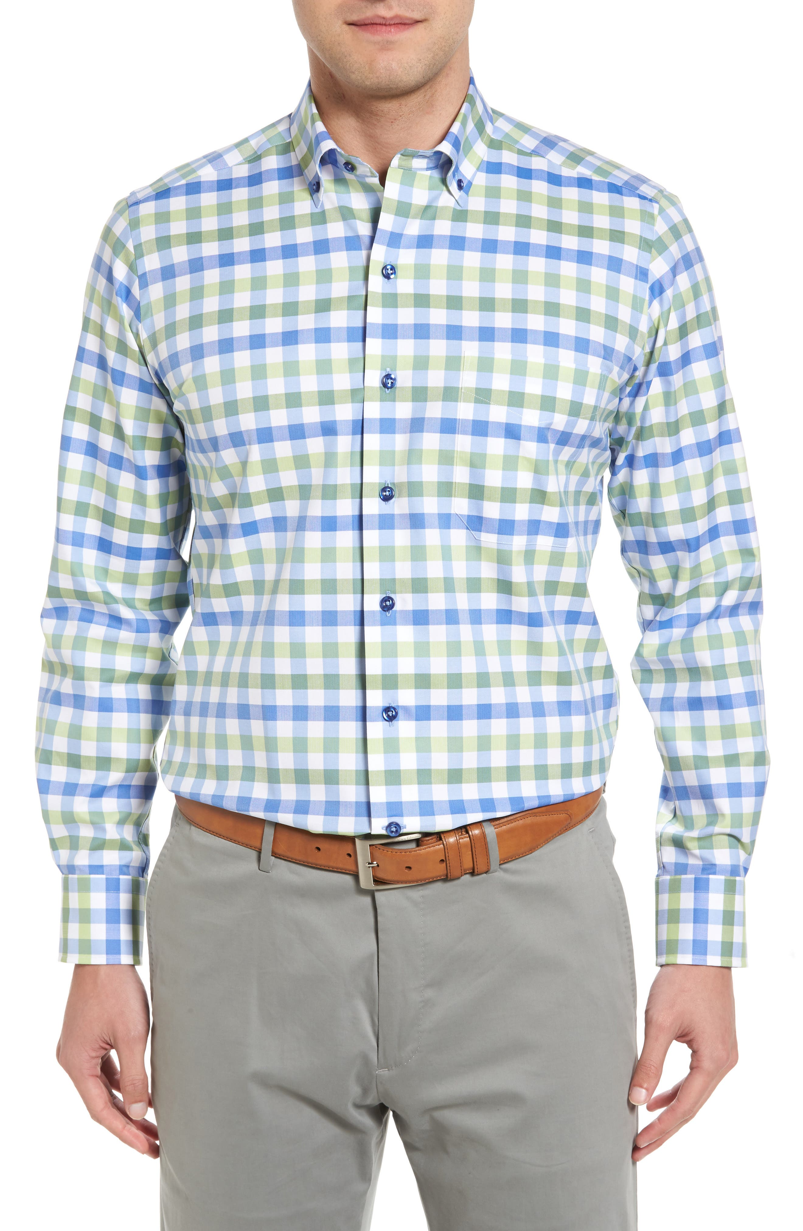Regular Fit Check Sport Shirt,                         Main,                         color, 448