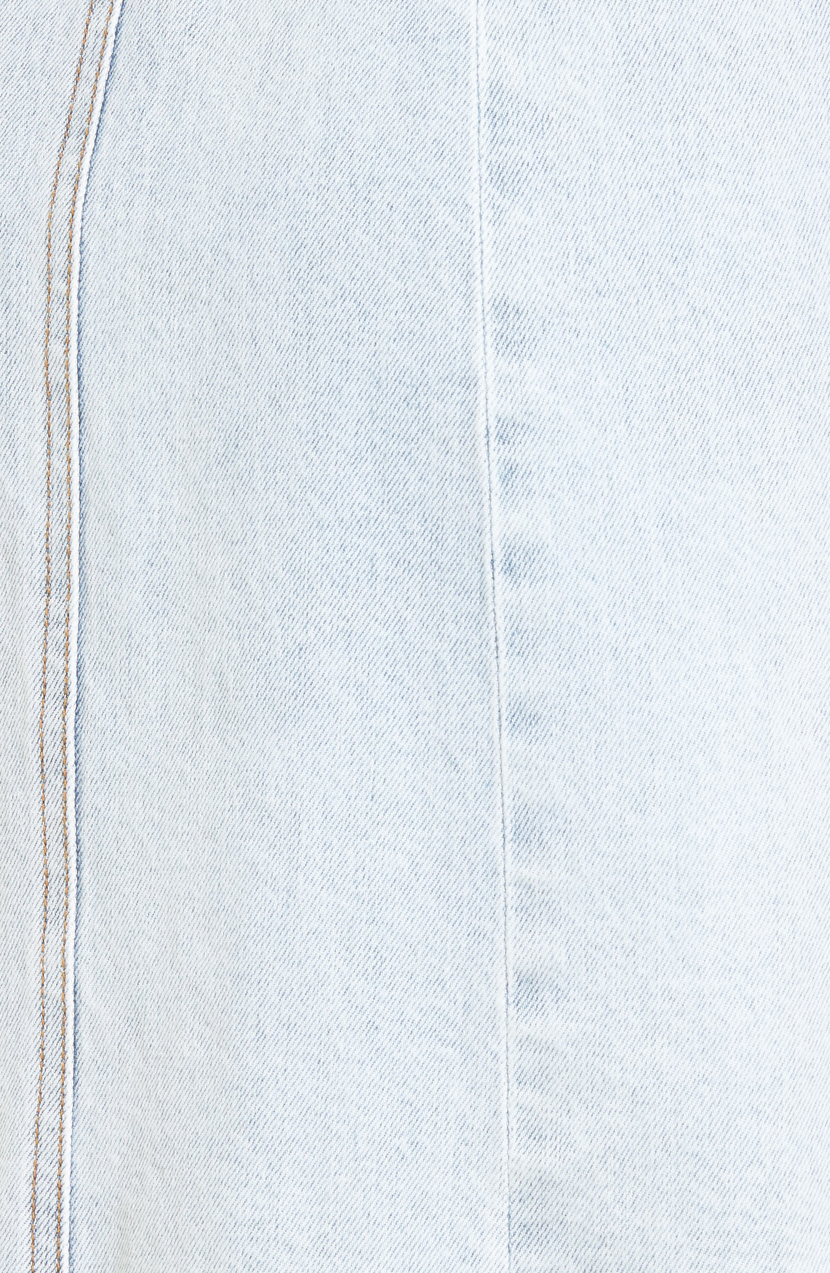 Denim Pinafore Dress,                             Alternate thumbnail 5, color,                             402
