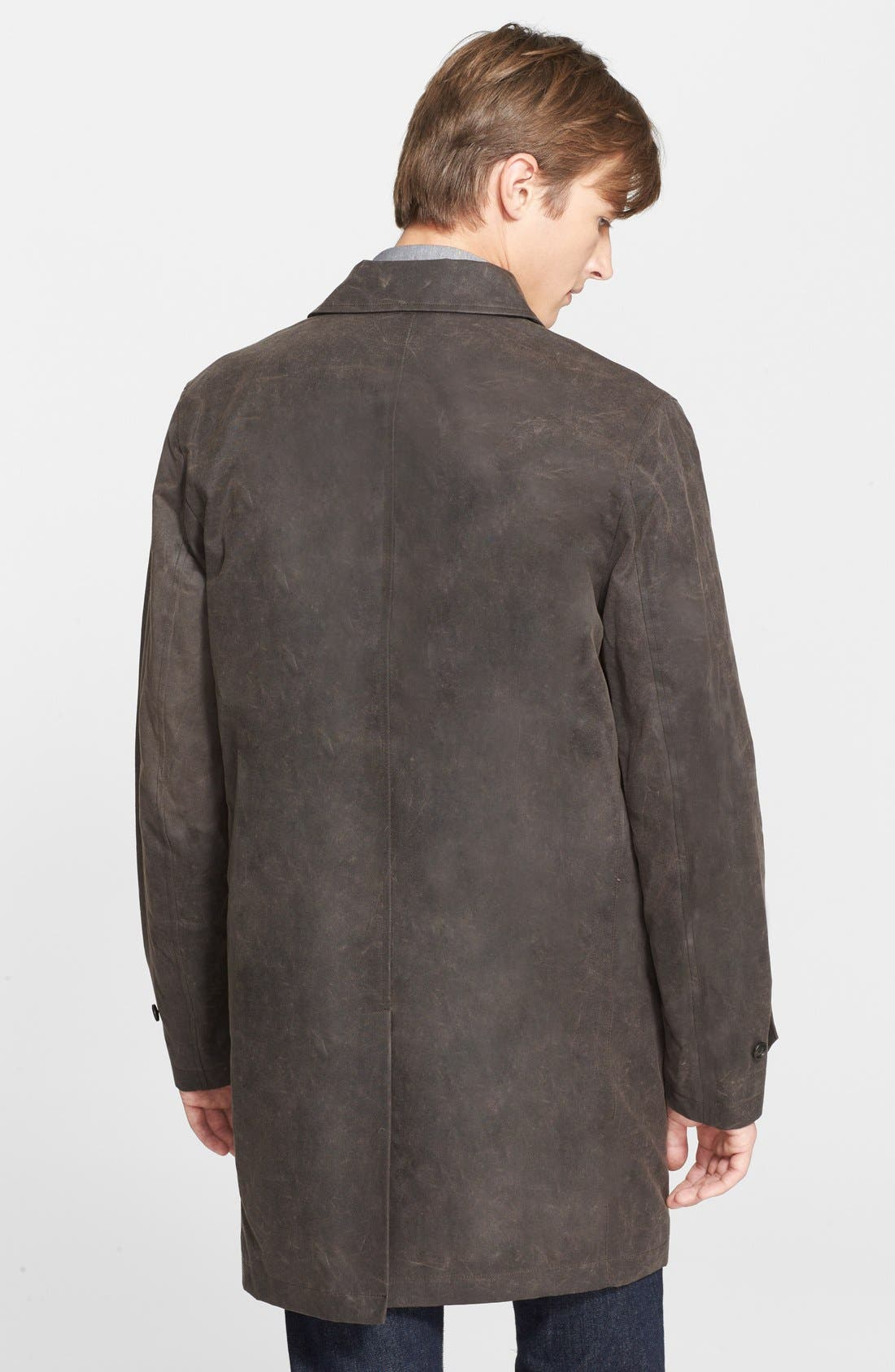 'Waxwear' Water Resistant Waxed Canvas Trench Coat,                             Alternate thumbnail 2, color,