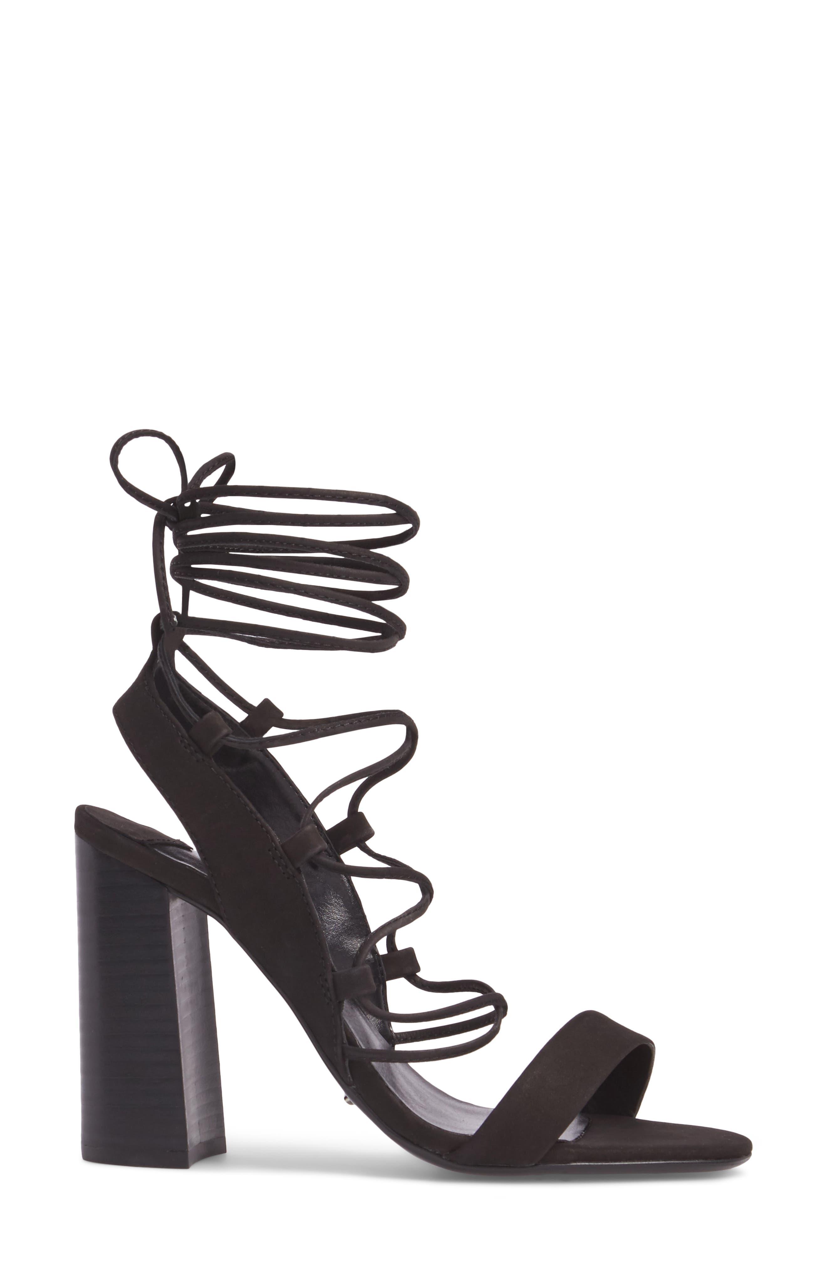 Dani Ghillie Flared Heel Sandal,                             Alternate thumbnail 5, color,