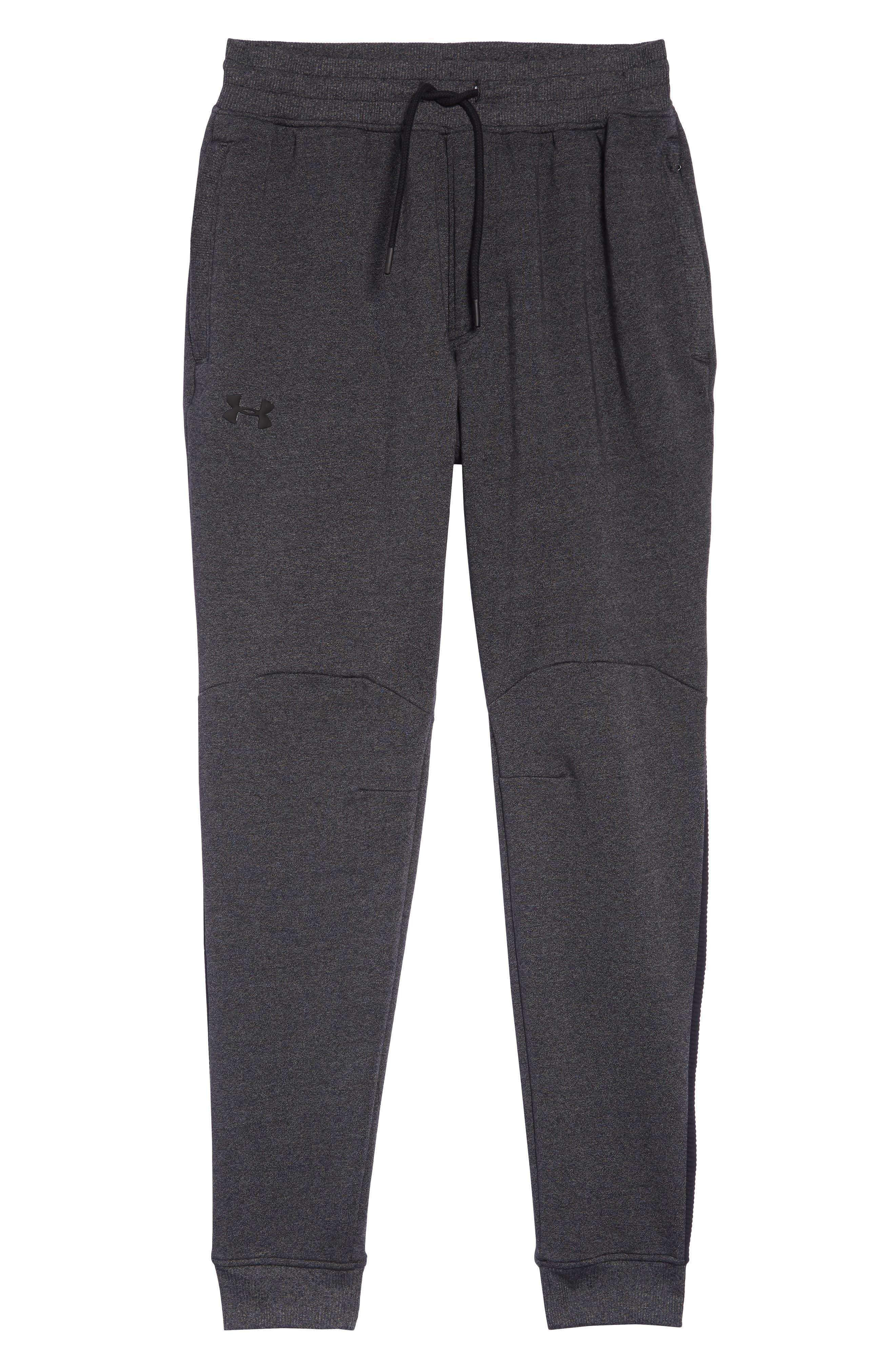 Threadborne Jogger Pants,                             Alternate thumbnail 6, color,                             BLACK/ BLACK