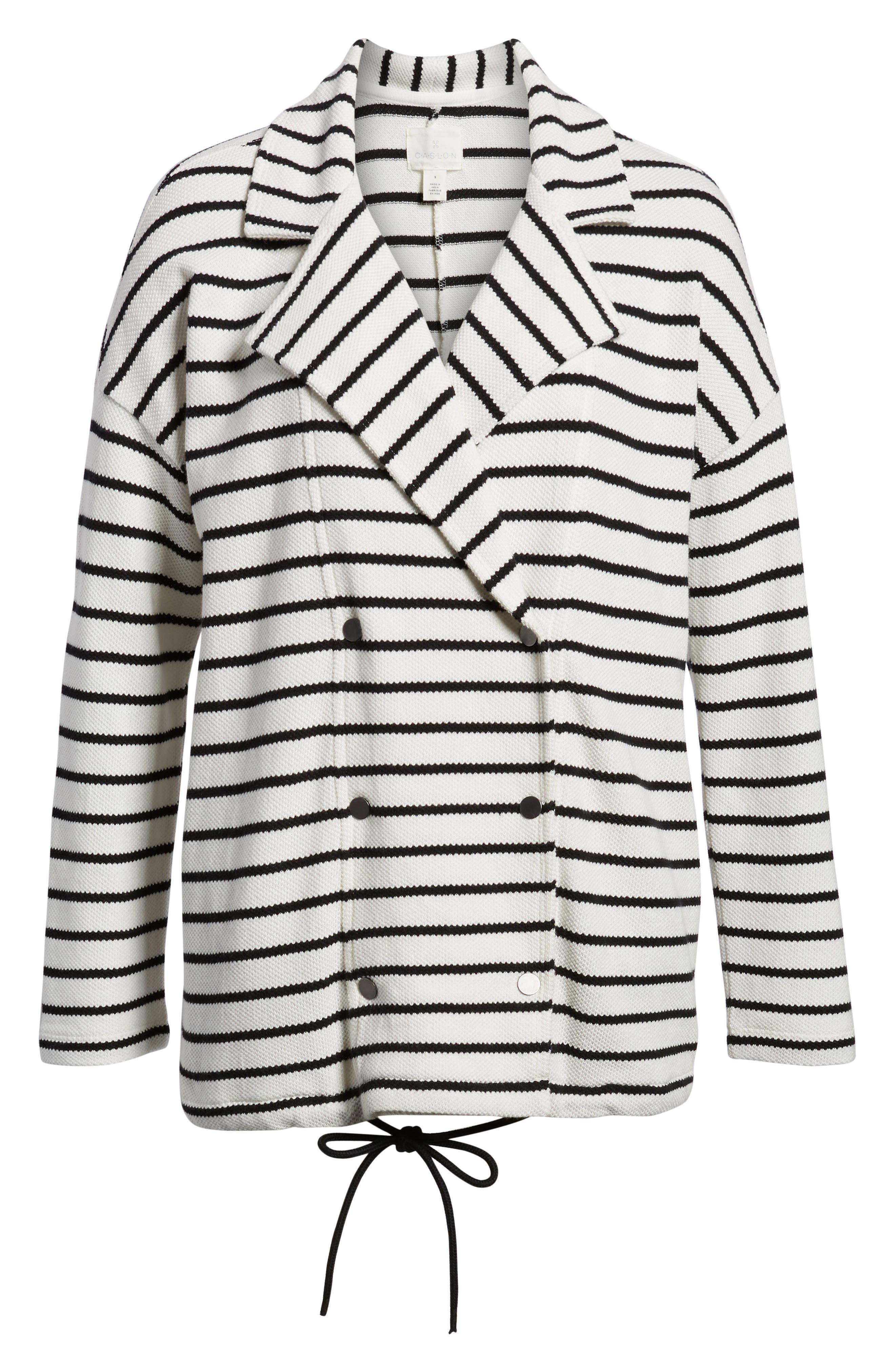 Stripe Knit Drawsting Jacket,                             Alternate thumbnail 10, color,