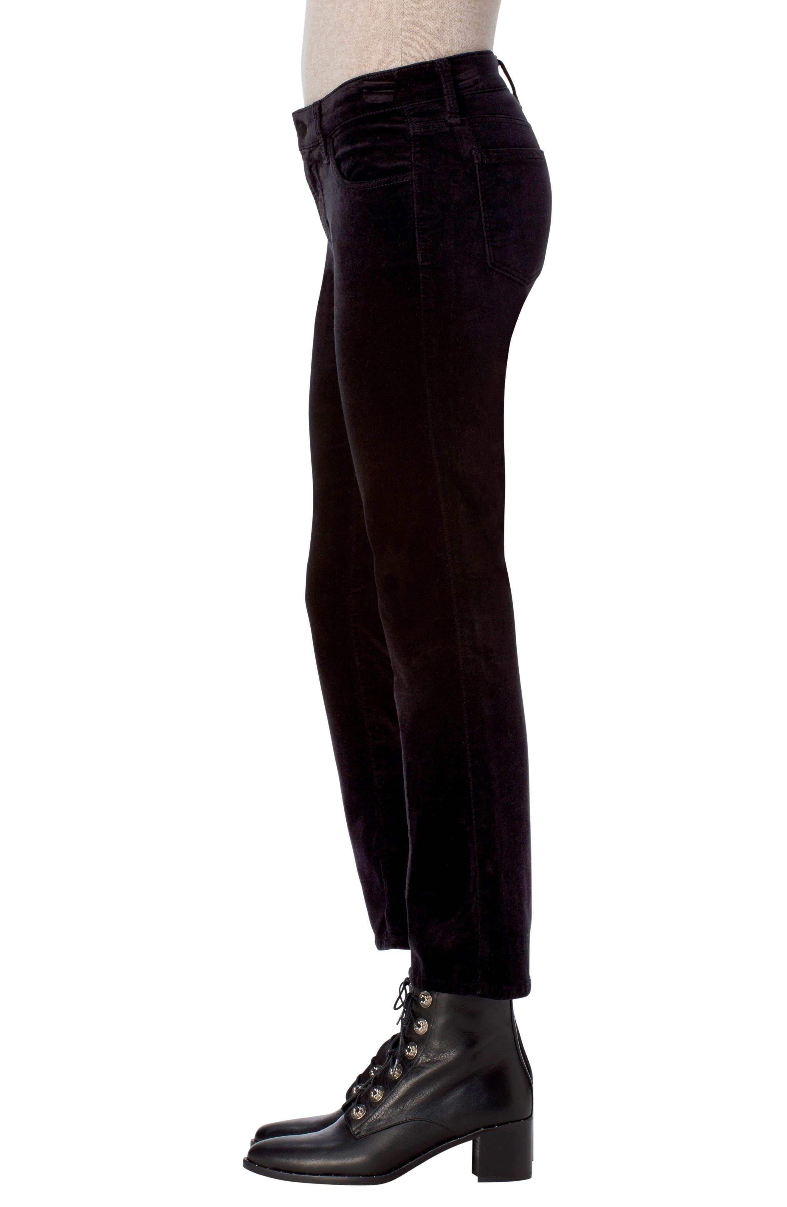 Selena Crop Bootcut Jeans,                             Alternate thumbnail 3, color,                             001