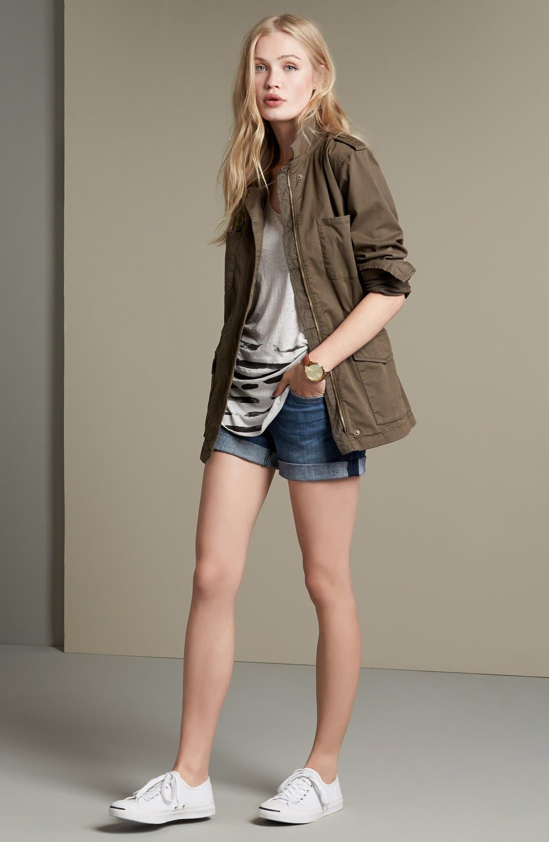 'Croxley' Cuffed Denim Shorts,                             Alternate thumbnail 29, color,