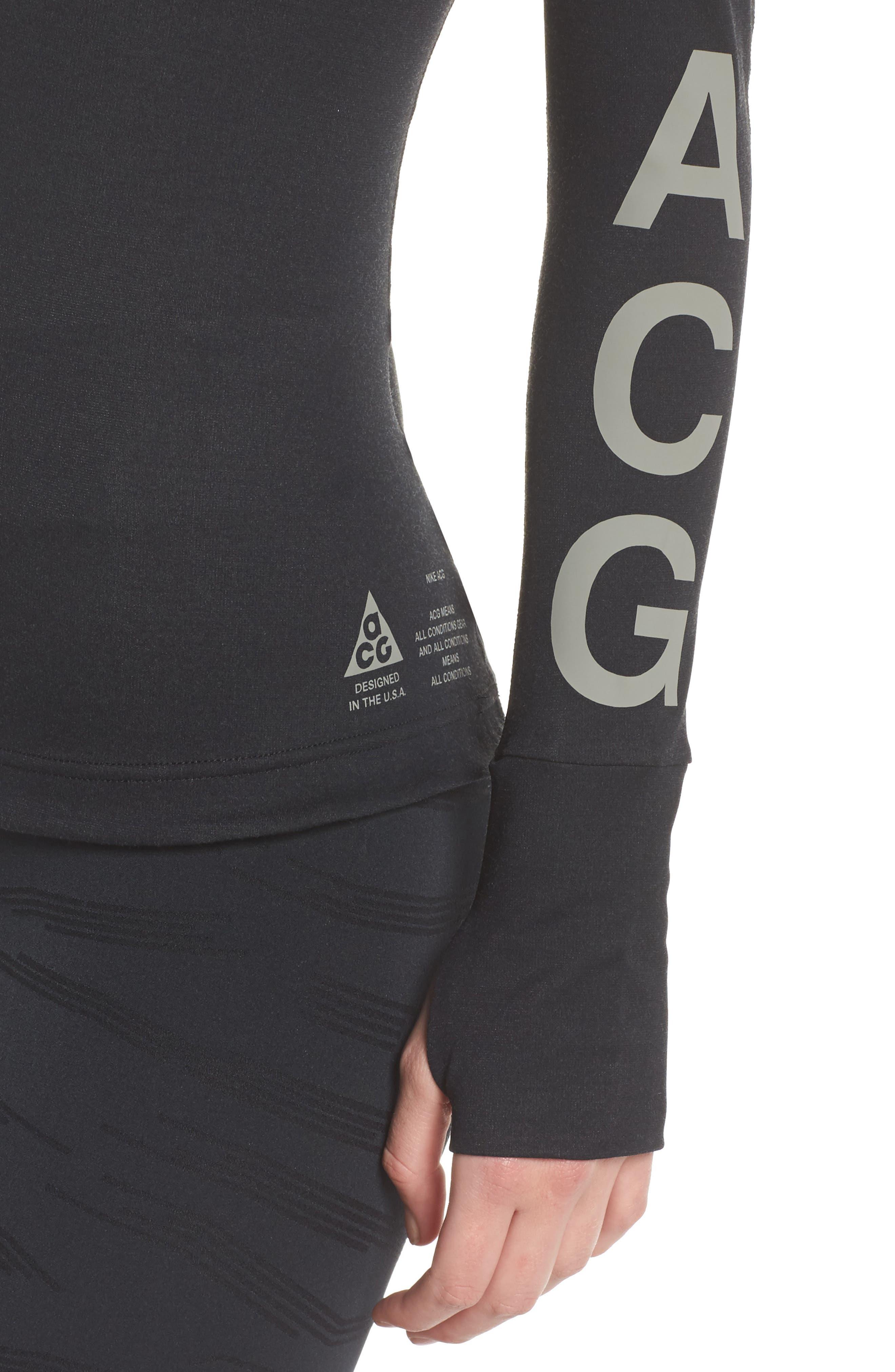 NikeLab ACG Long Sleeve Women's Top,                             Alternate thumbnail 4, color,                             010