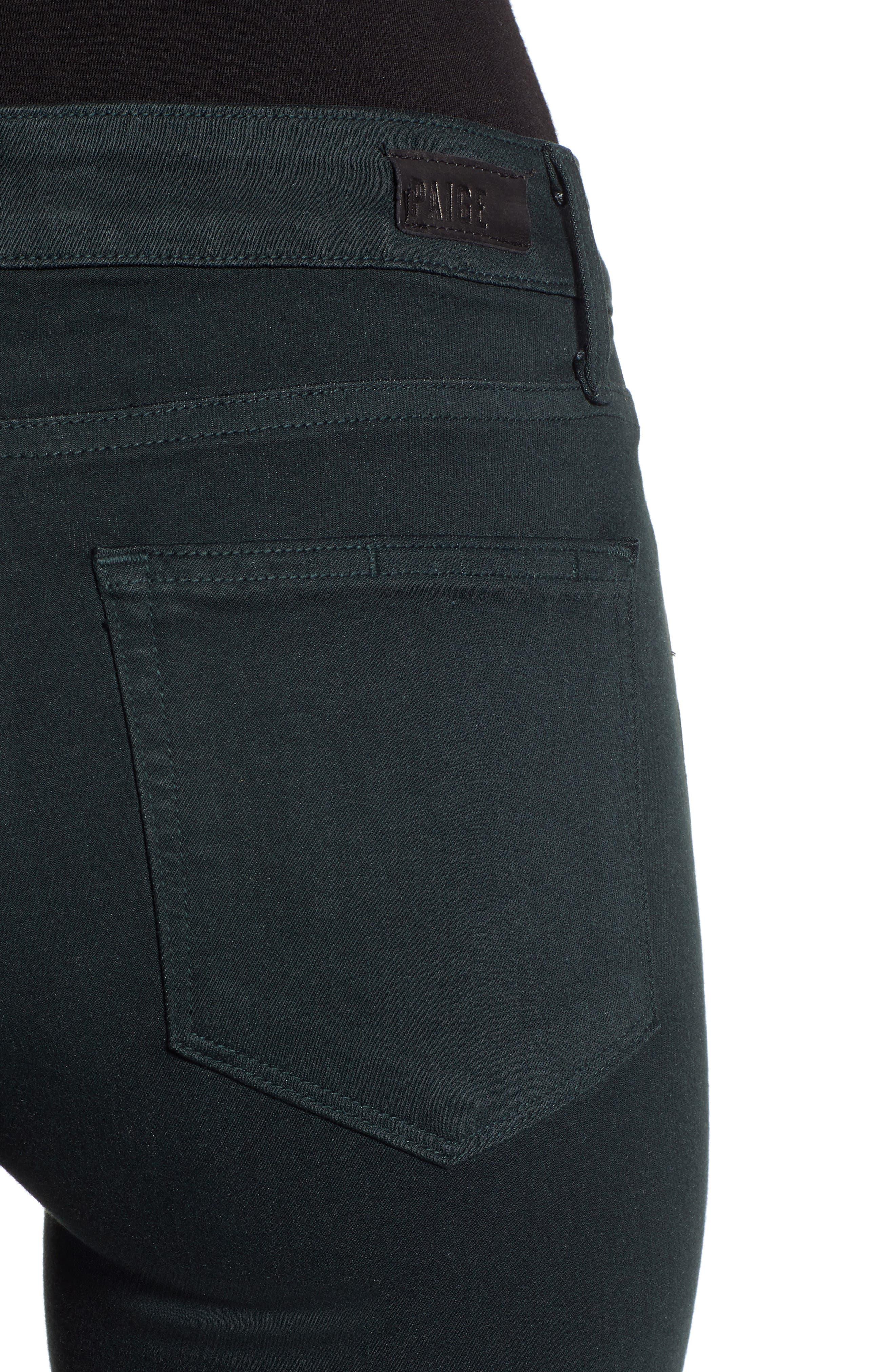 Transcend - Verdugo Ultra Skinny Jeans,                             Alternate thumbnail 4, color,                             MIDNIGHT GREEN