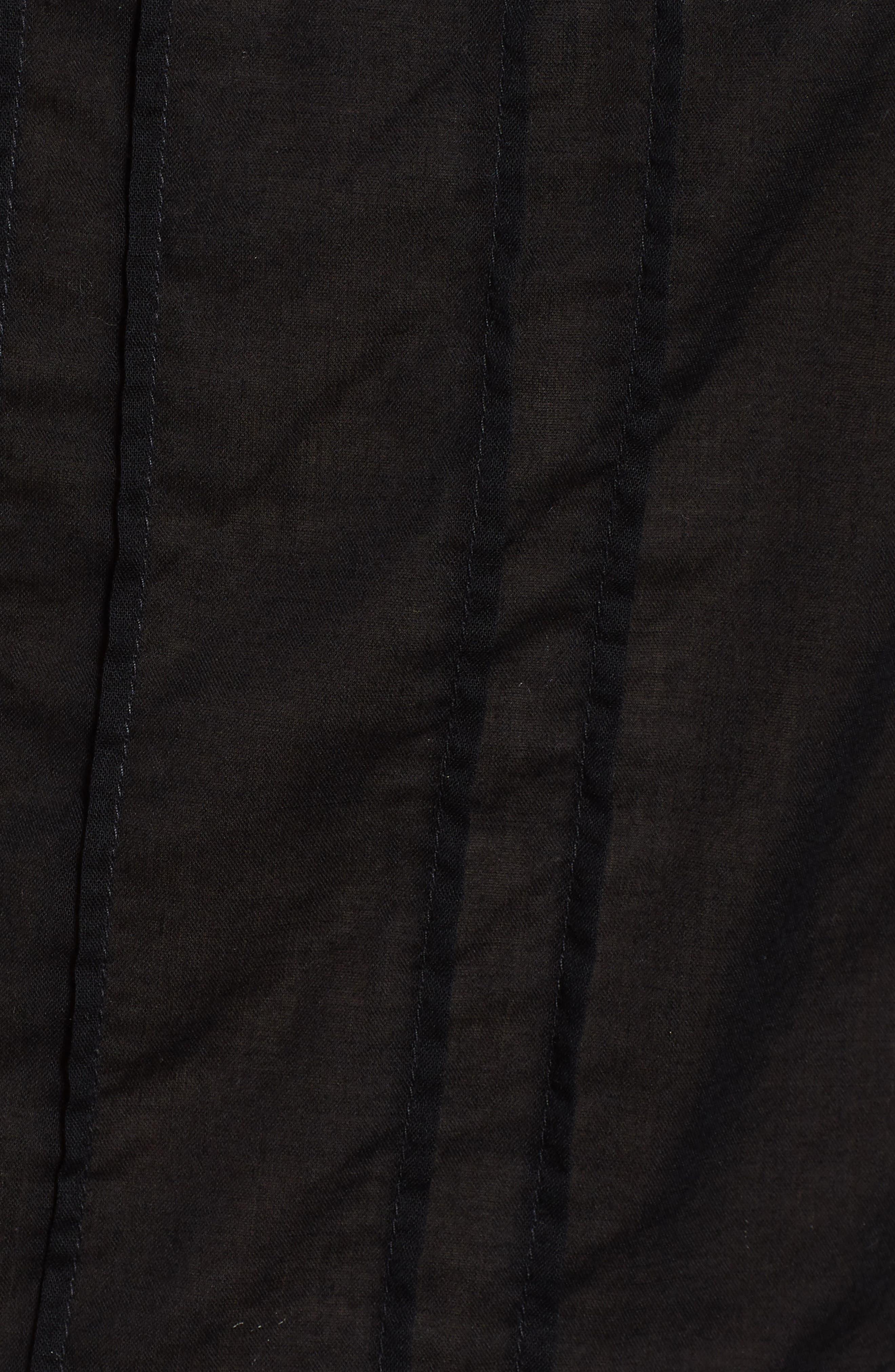 Mixed Lace Peplum Top,                             Alternate thumbnail 5, color,                             001