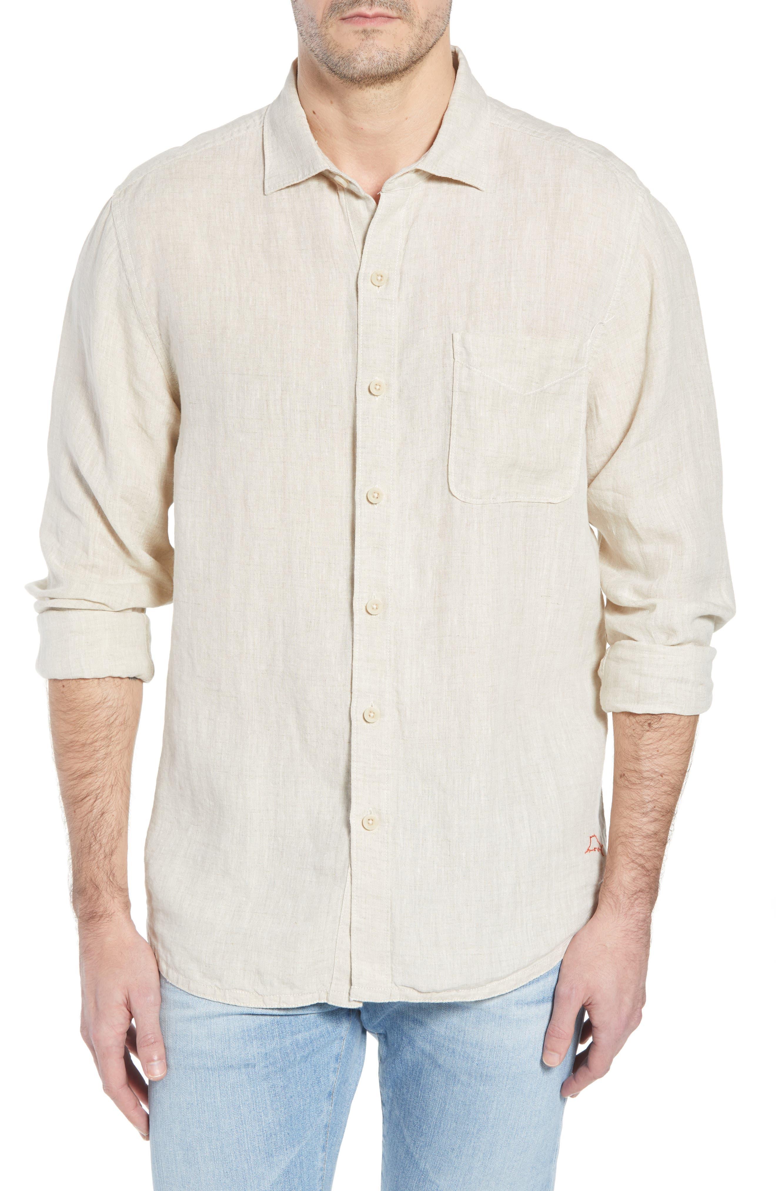 Seaspray Breezer Standard Fit Linen Sport Shirt,                         Main,                         color, 200