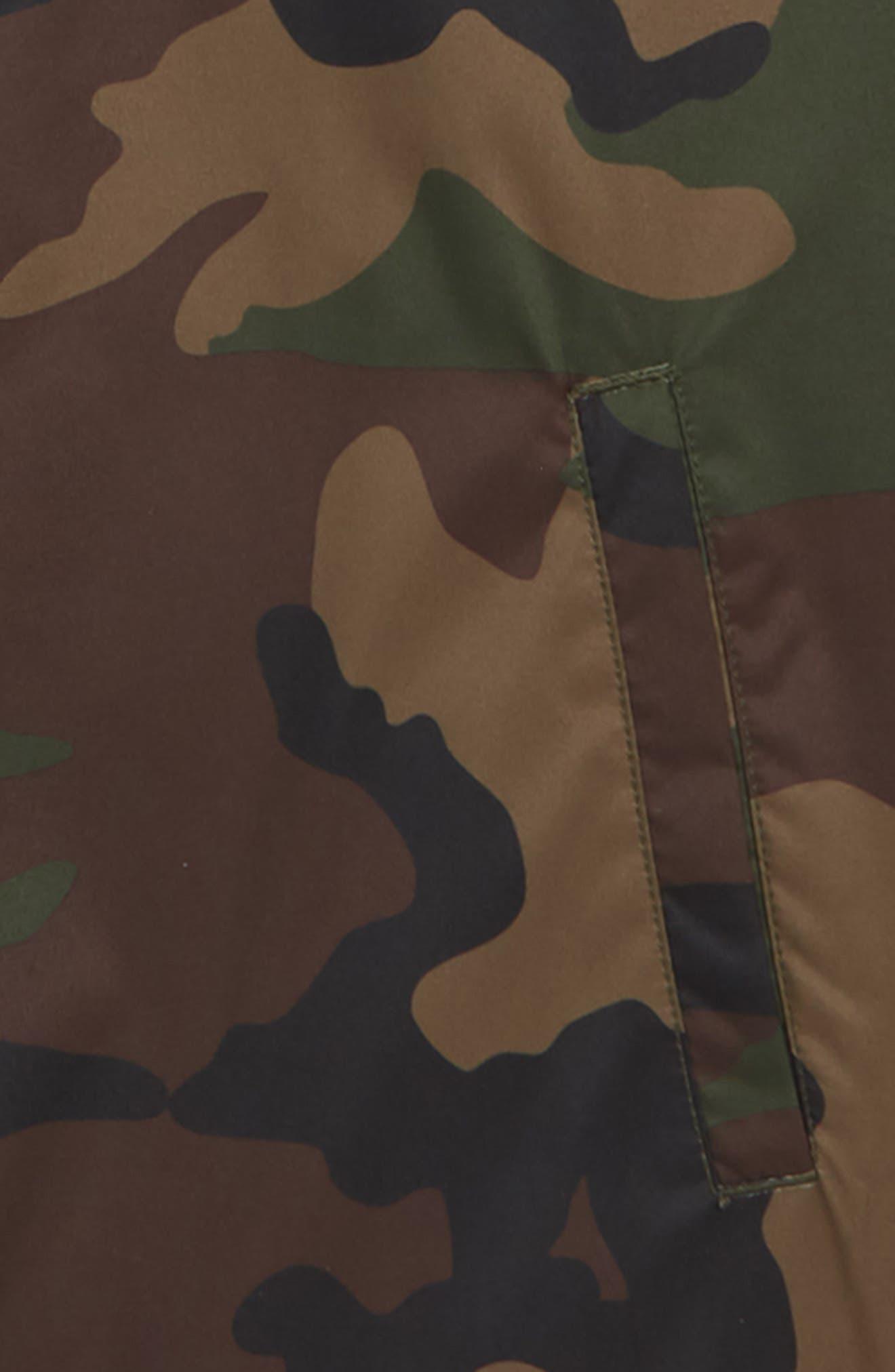 VANS,                             Torrey Water Resistant Jacket,                             Alternate thumbnail 2, color,                             OVERSIZED WOODLAND CAMO/ BLACK