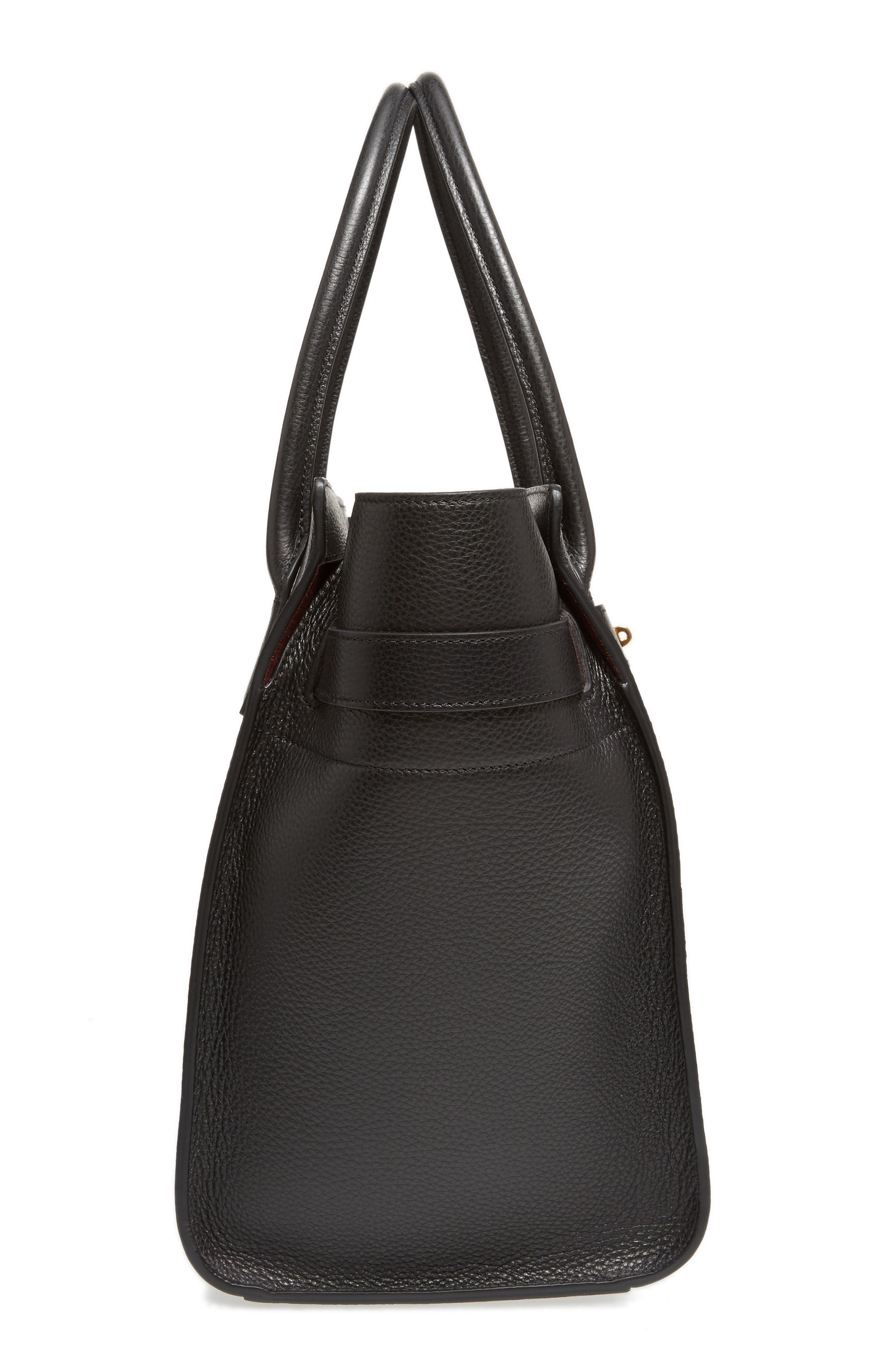 Large Bayswater Leather Tote,                             Alternate thumbnail 5, color,                             010