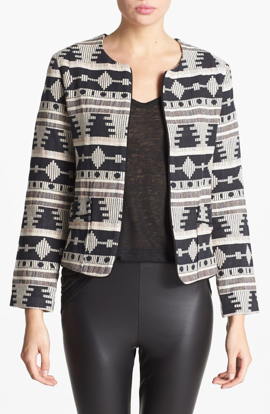 'Tribal' Pattern Jacket,                         Main,                         color, 001