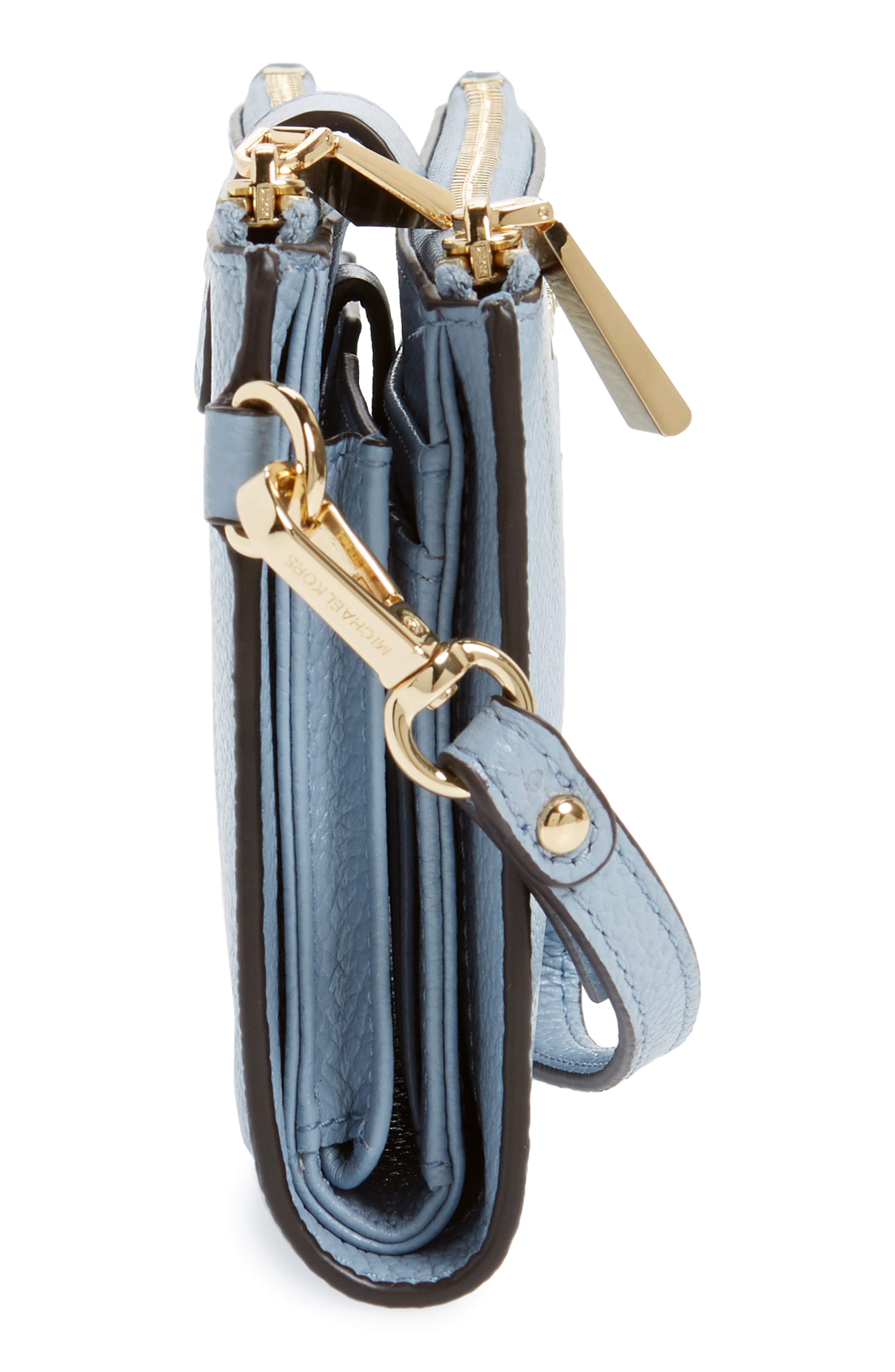 Adele Leather Wristlet,                             Alternate thumbnail 42, color,
