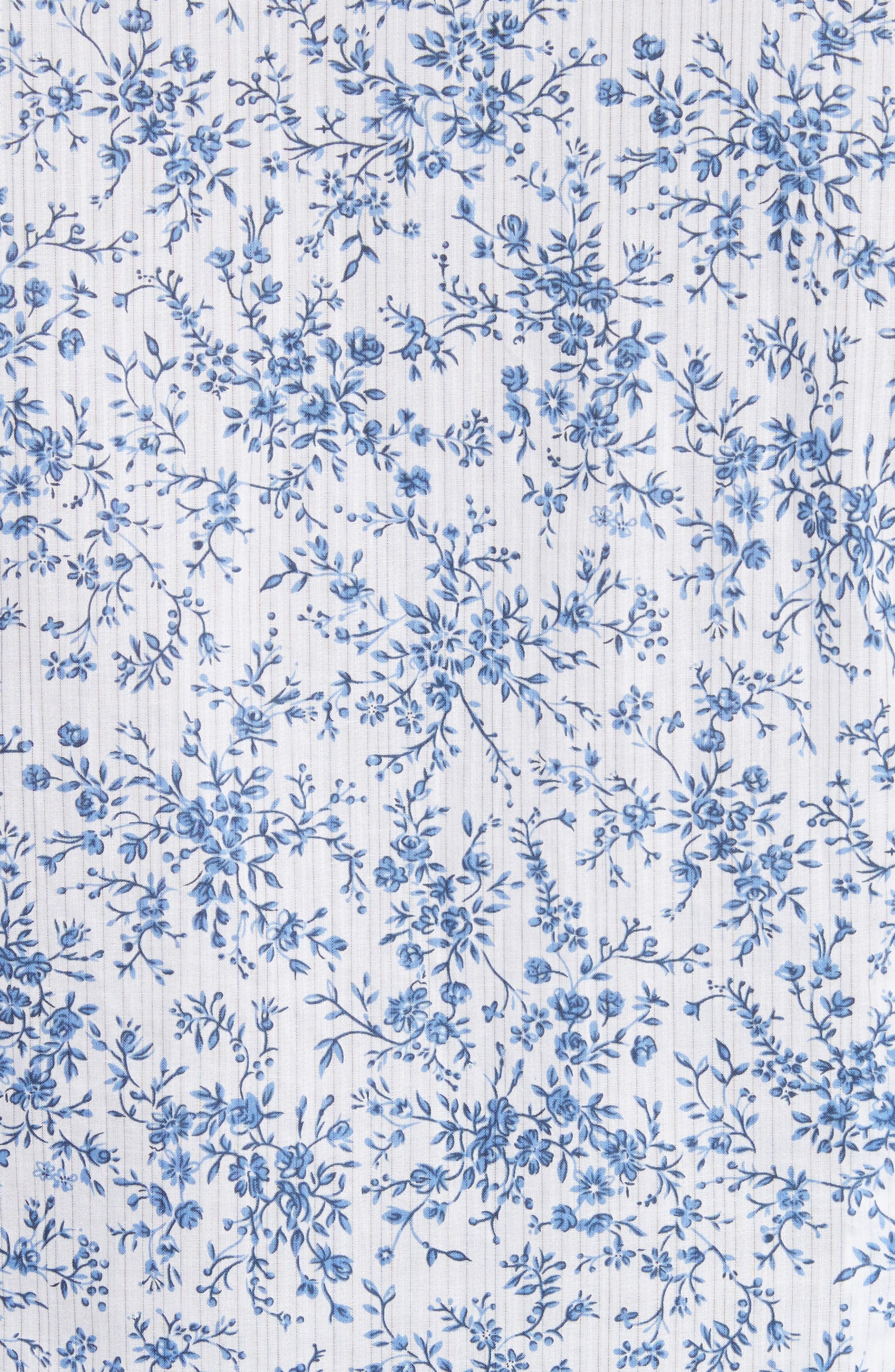John Varvatos Slim Fit Floral Print Shirt,                             Alternate thumbnail 5, color,                             448
