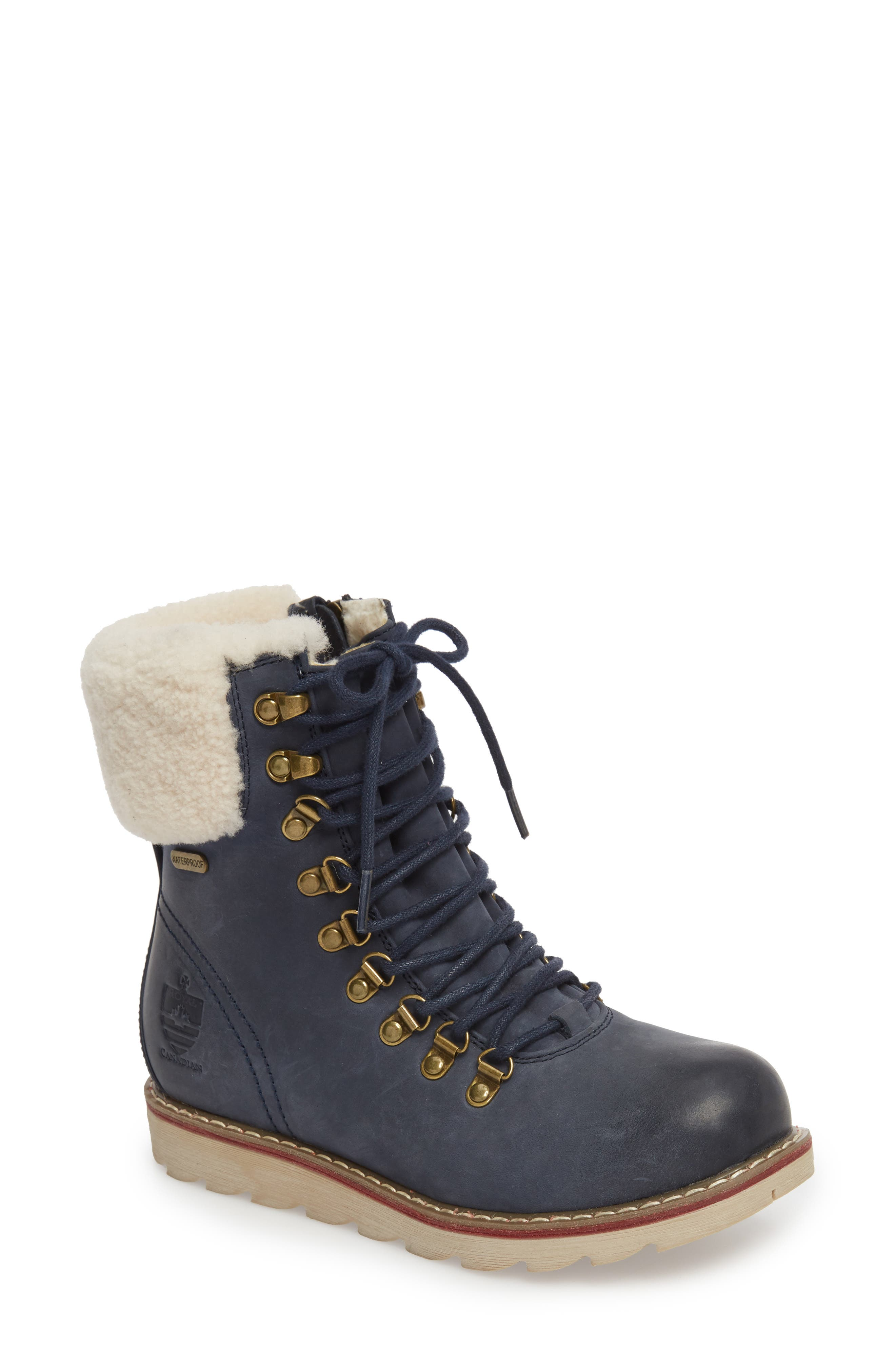 Lethbridge Waterproof Snow Boot with Genuine Shearling Cuff,                             Main thumbnail 4, color,