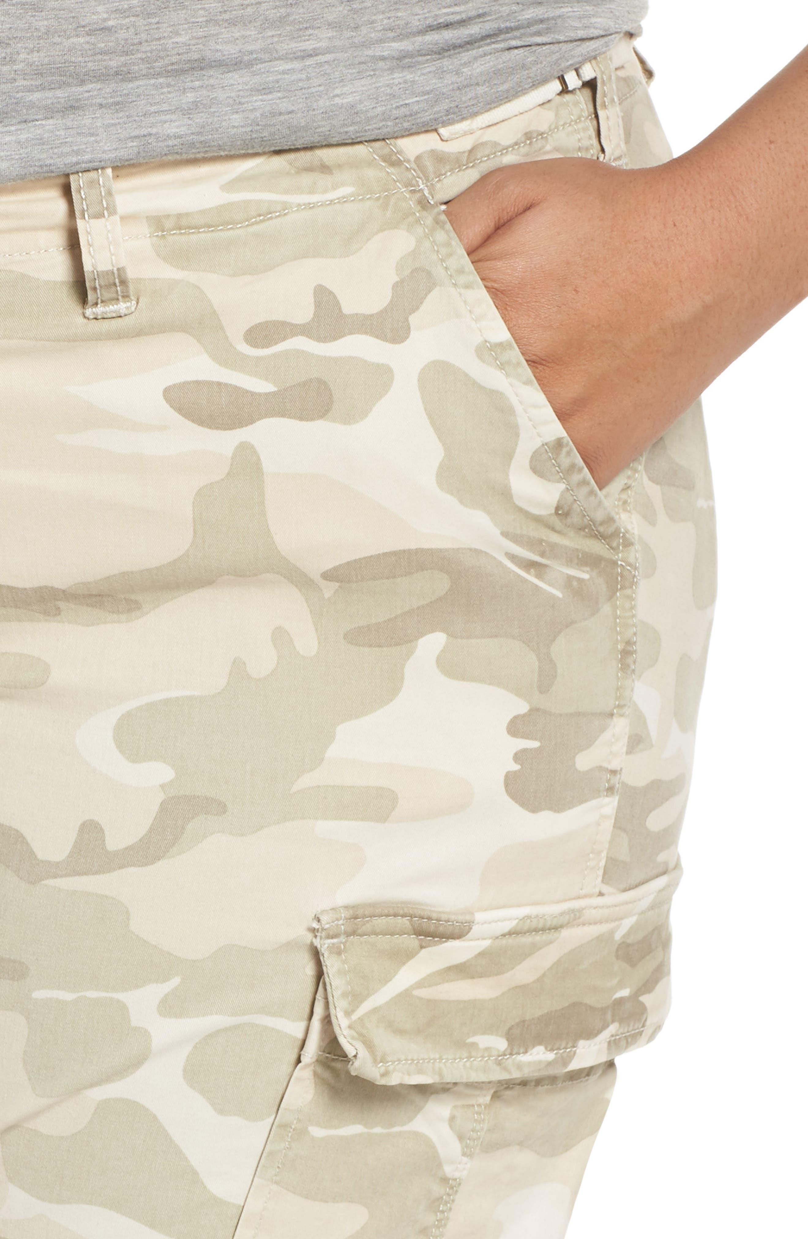 Camo Twill Cargo Pants,                             Alternate thumbnail 4, color,                             CLOUD CAMO