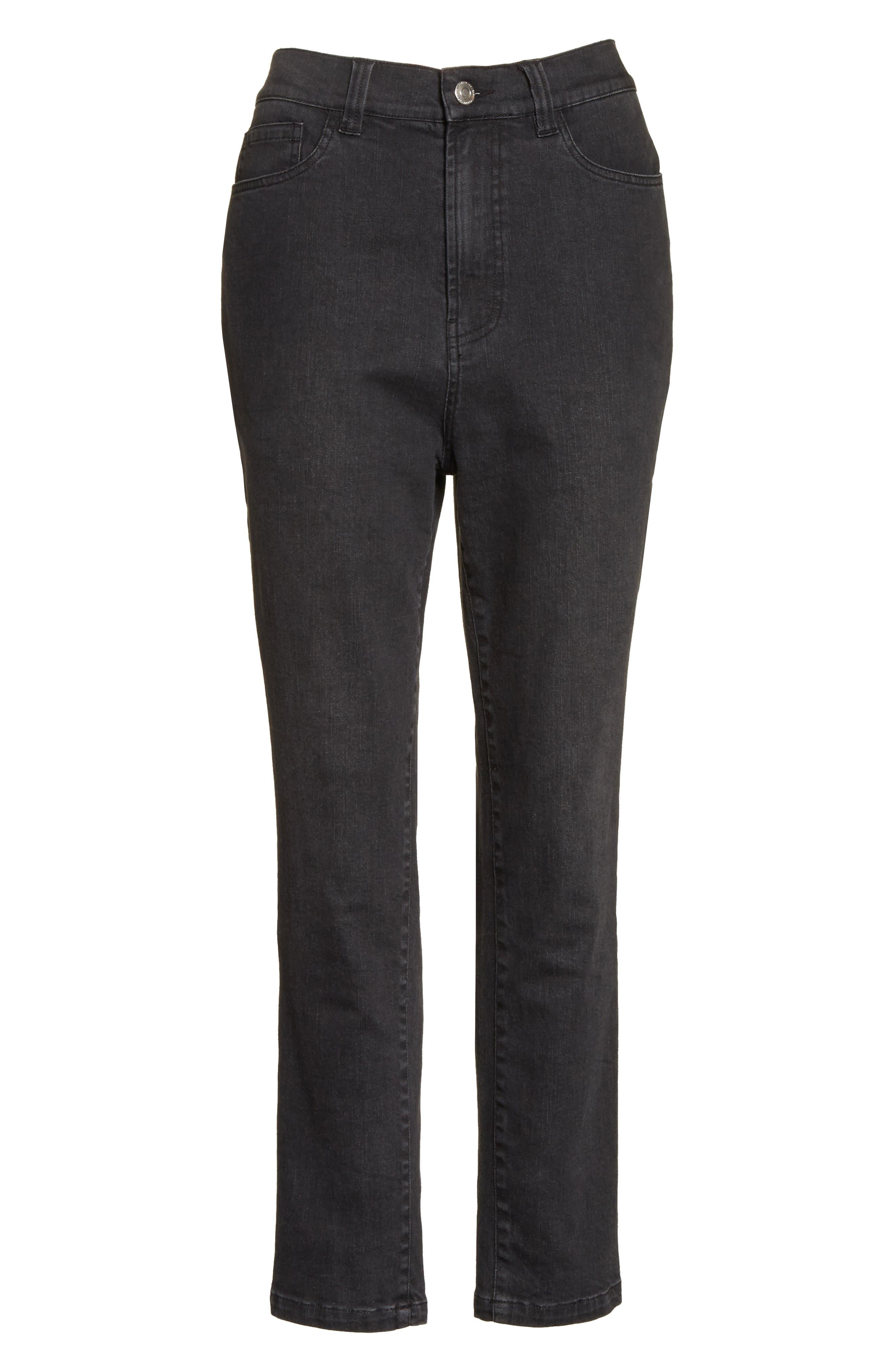 High Waist Slim Jeans,                             Alternate thumbnail 6, color,                             002