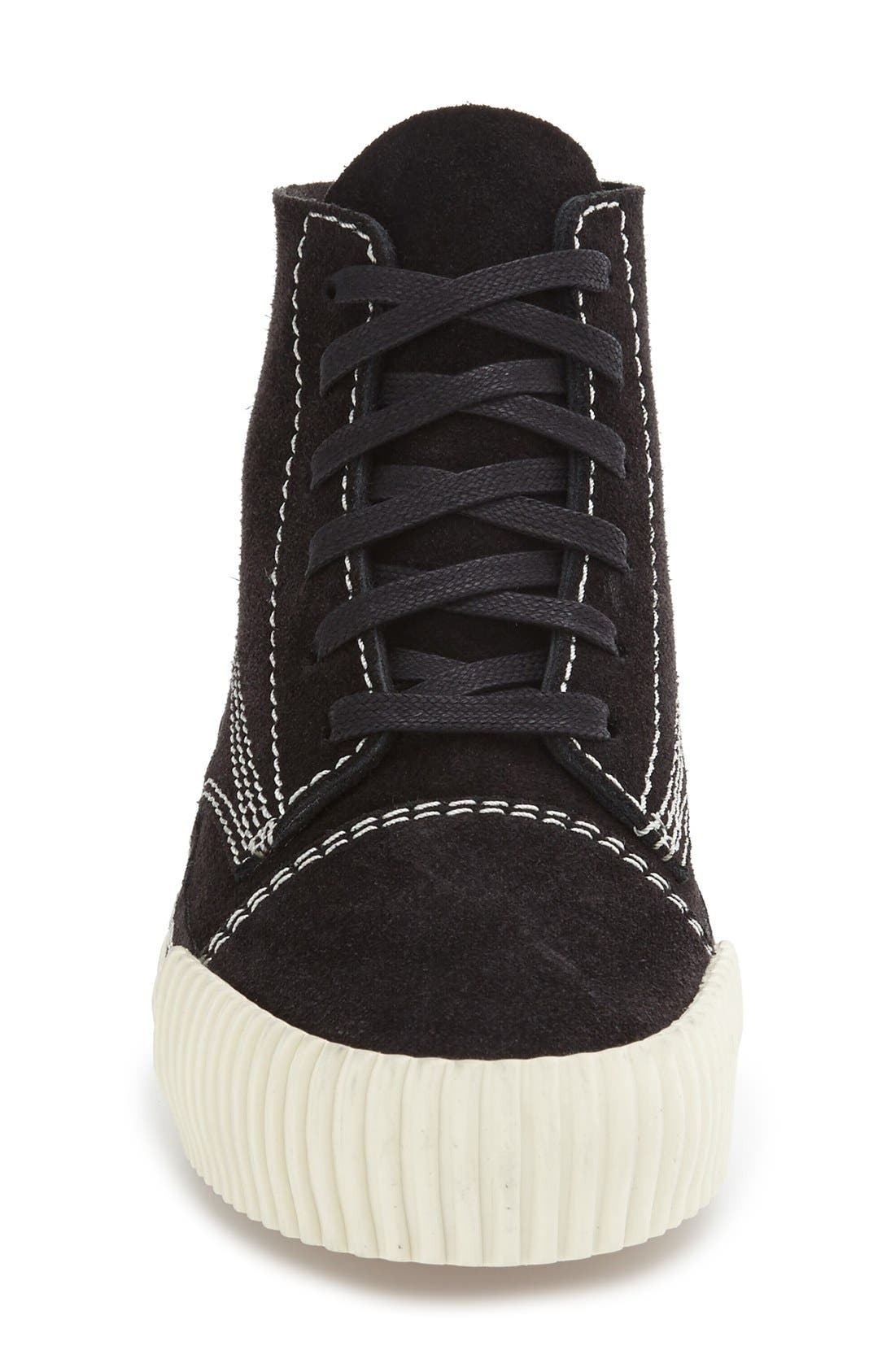 'Perry' Suede High Top Sneaker,                             Alternate thumbnail 10, color,                             001