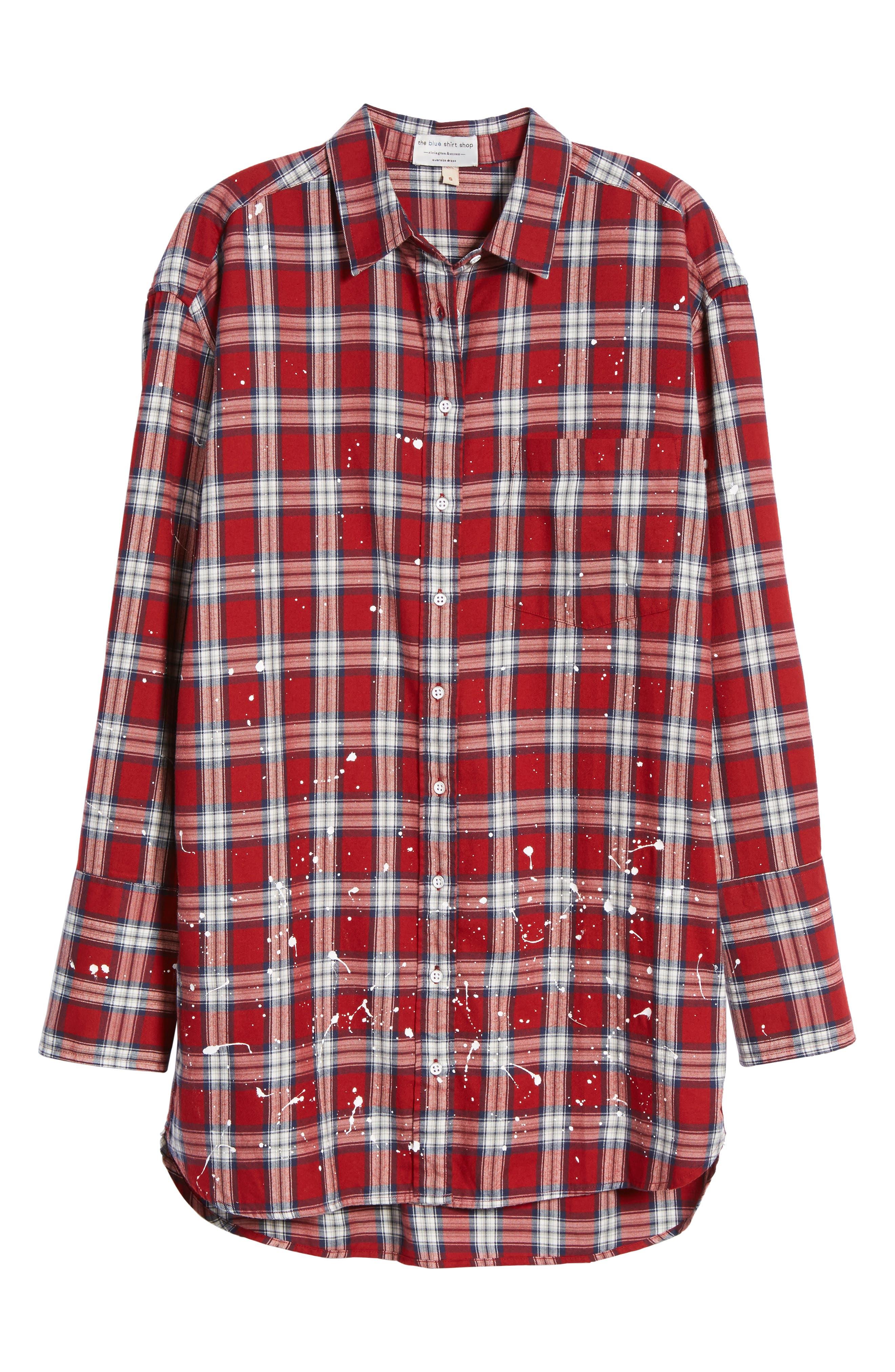 Rivington & Essex Plaid Shirtdress,                             Alternate thumbnail 6, color,                             609