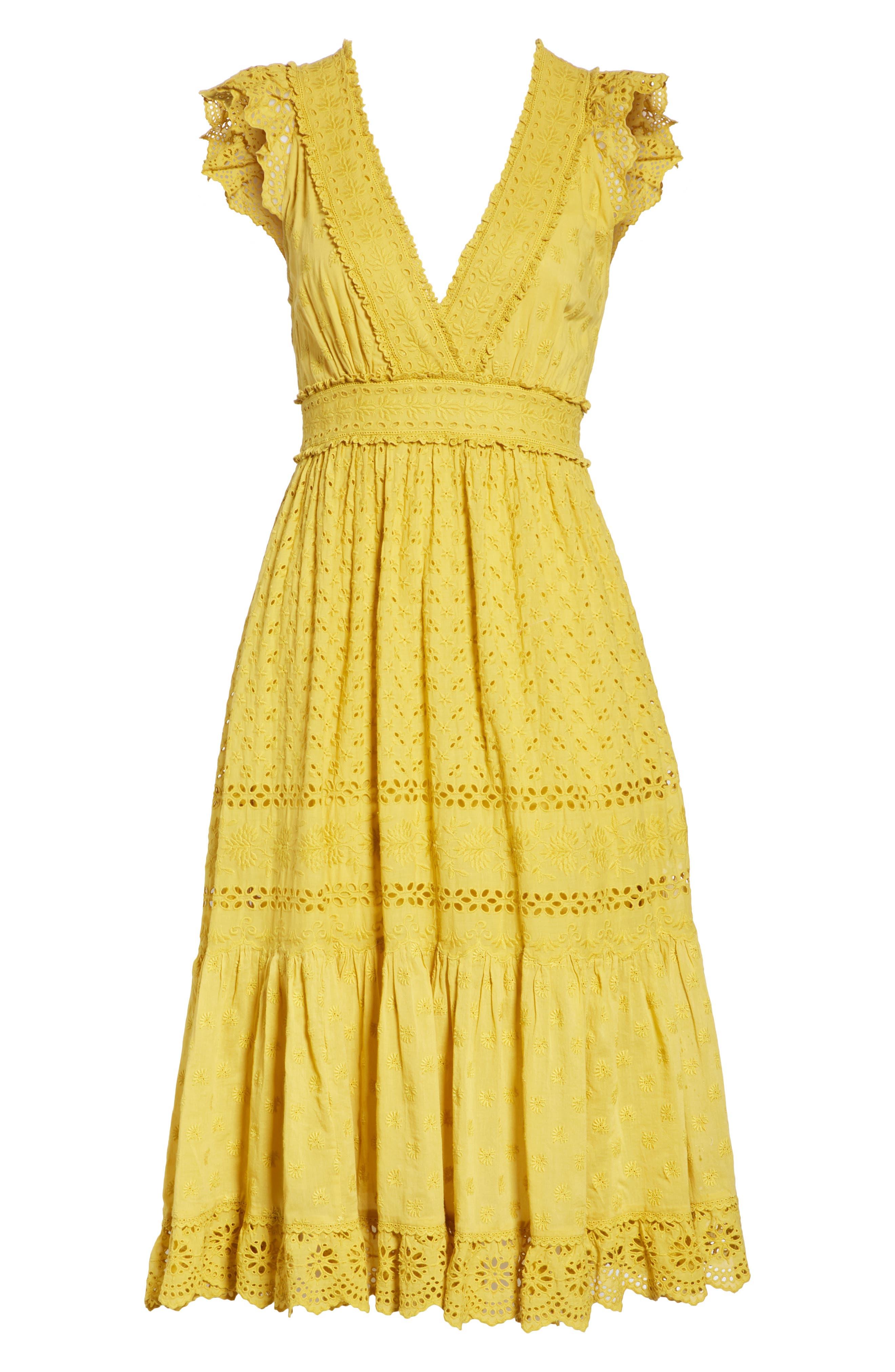 Marjorie Eyelet Dress,                             Alternate thumbnail 6, color,                             700