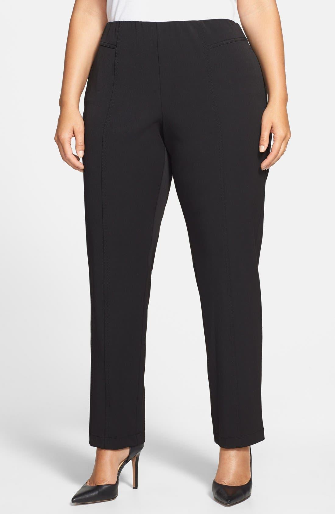 Seam Detail Pants,                         Main,                         color, RICH BLACK