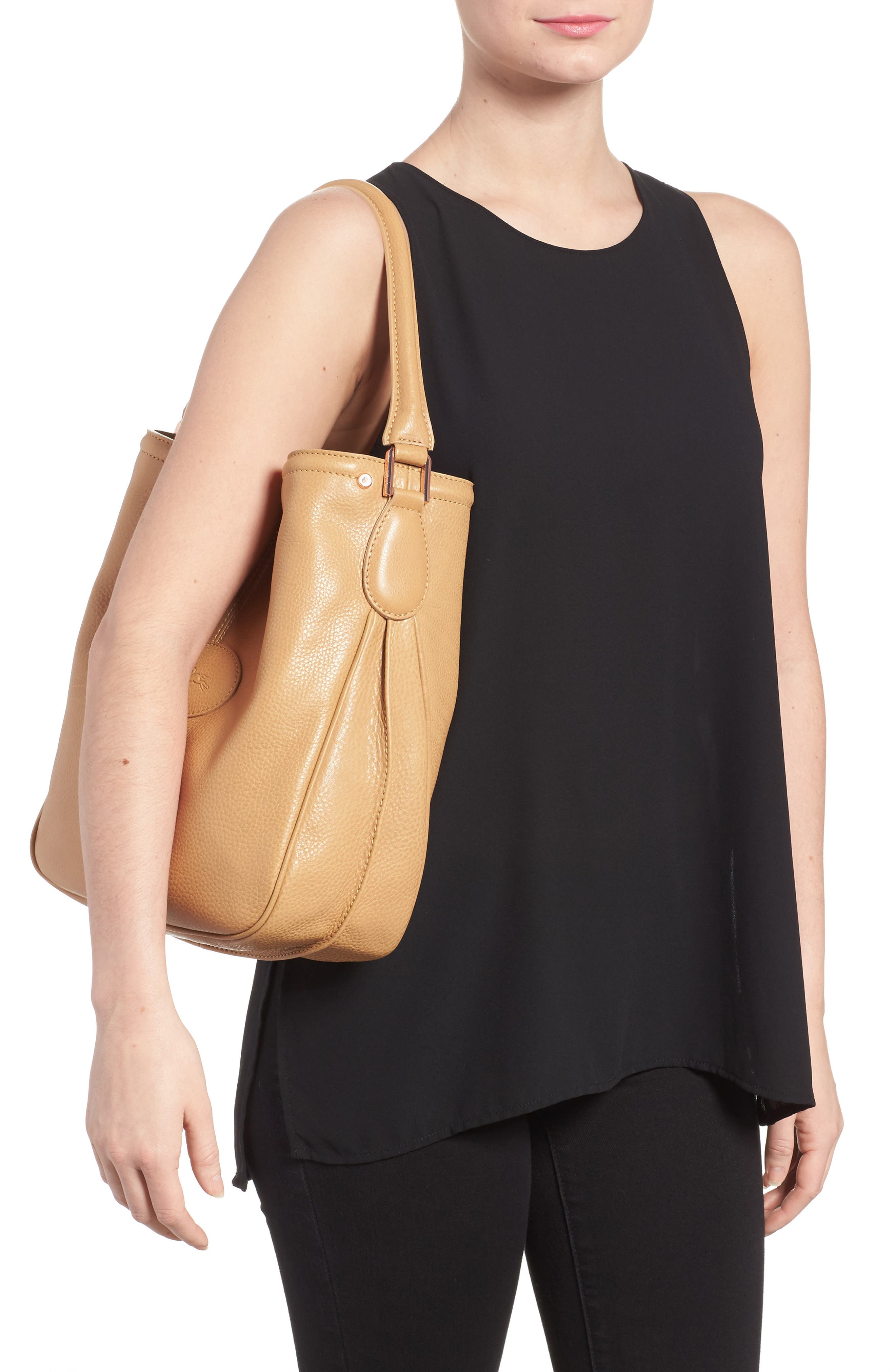 'Mystery' Leather Hobo,                             Alternate thumbnail 2, color,                             266