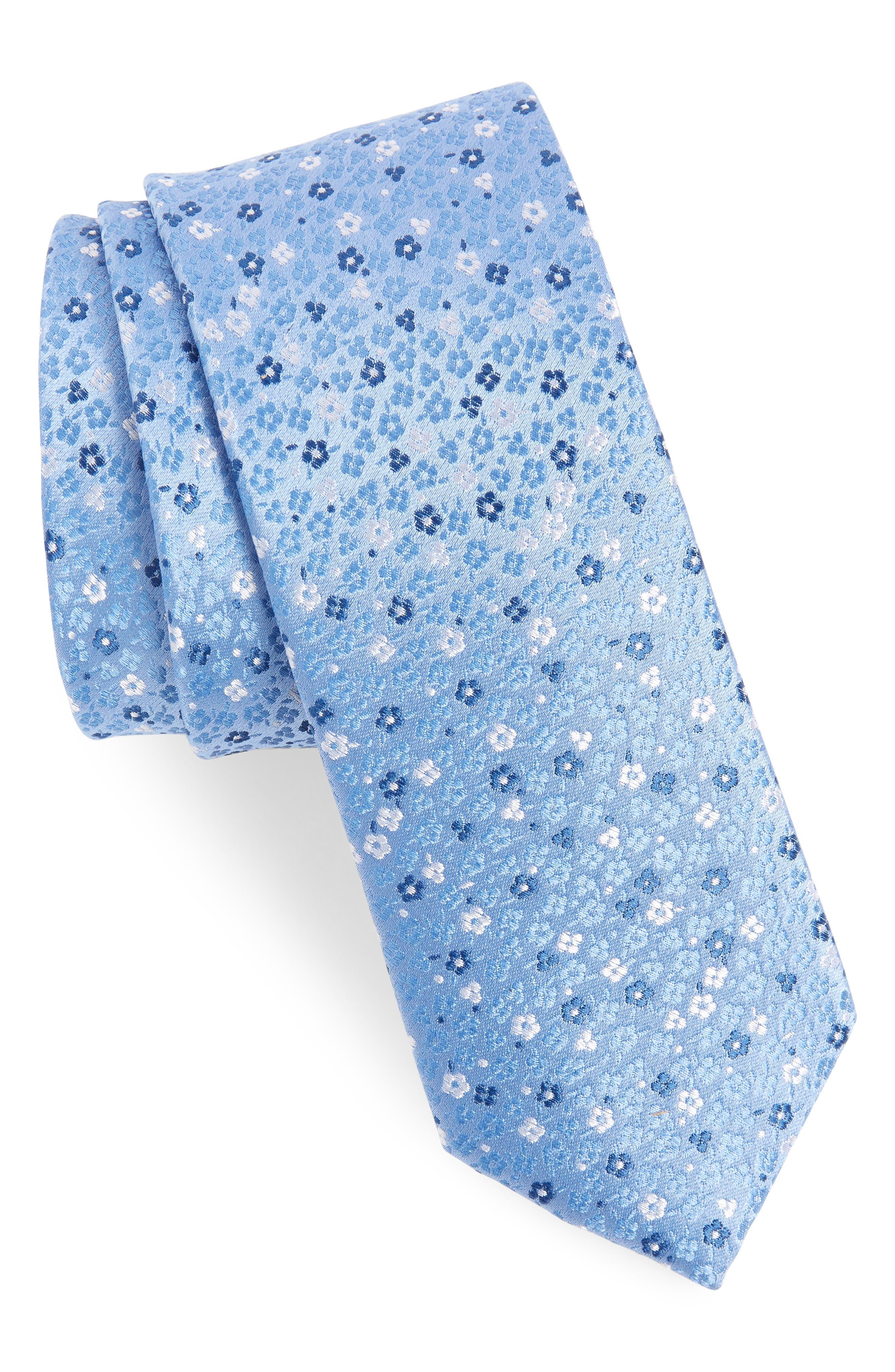 Flower Fields Silk Tie,                             Main thumbnail 1, color,