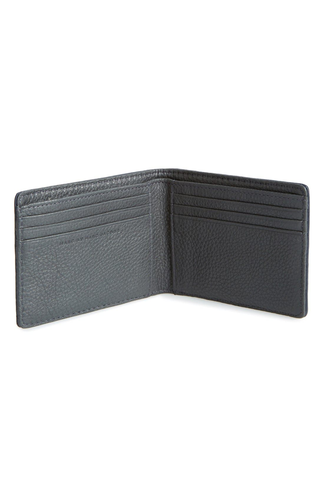 'Martin' Leather Bifold Wallet,                             Alternate thumbnail 2, color,                             495