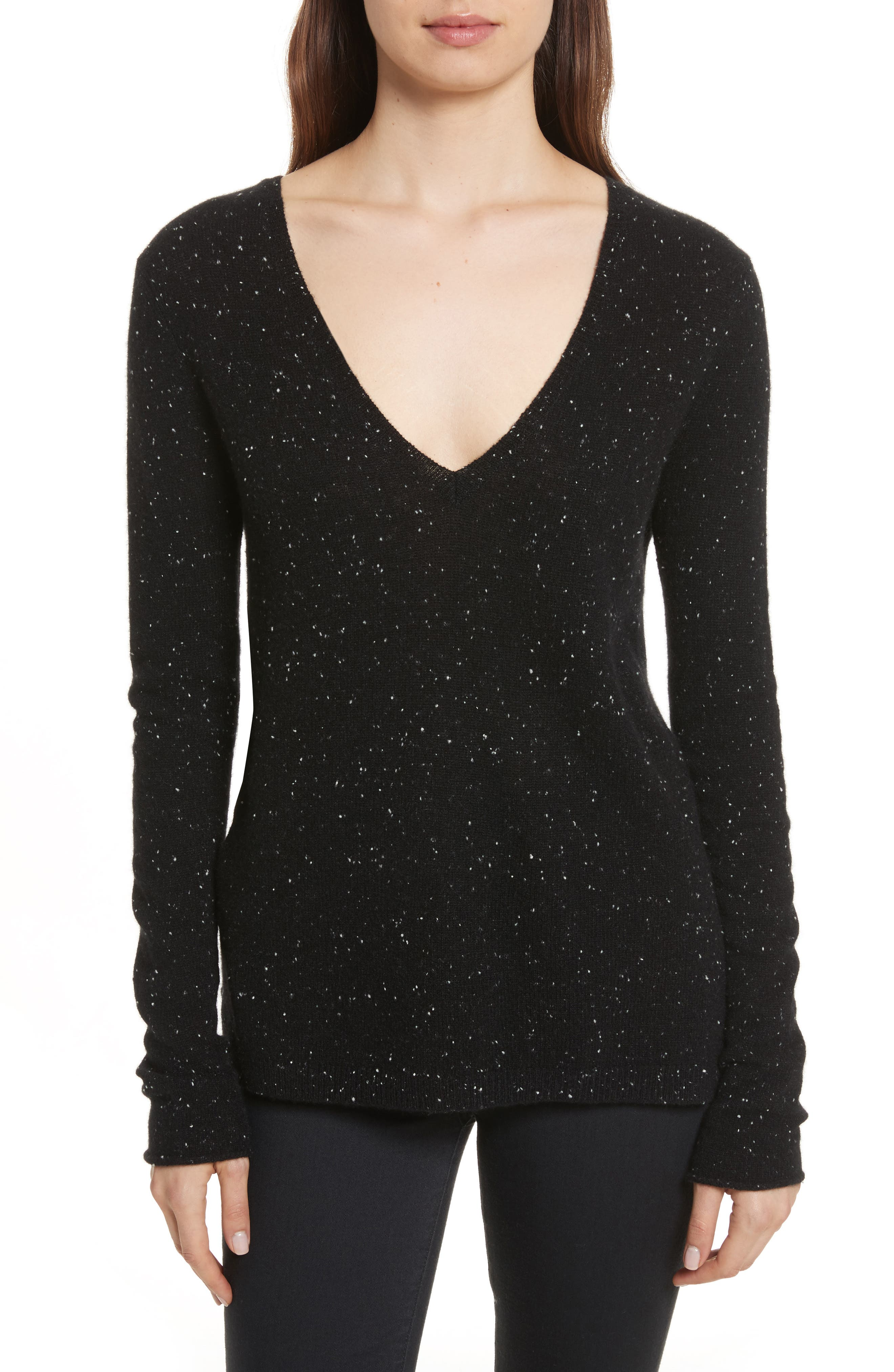 Donegal Cashmere Sweater,                         Main,                         color, 001