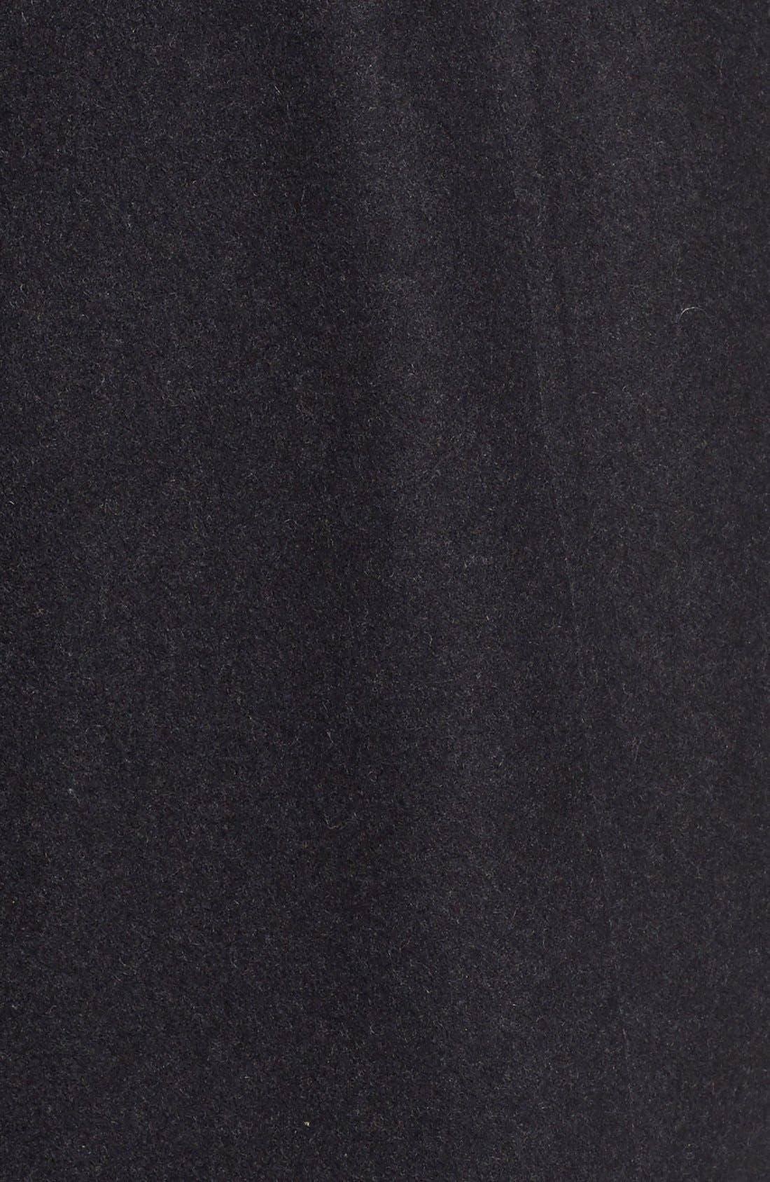 Faux Leather & Faux Fur Trim Belted Wool Blend Coat,                             Alternate thumbnail 20, color,