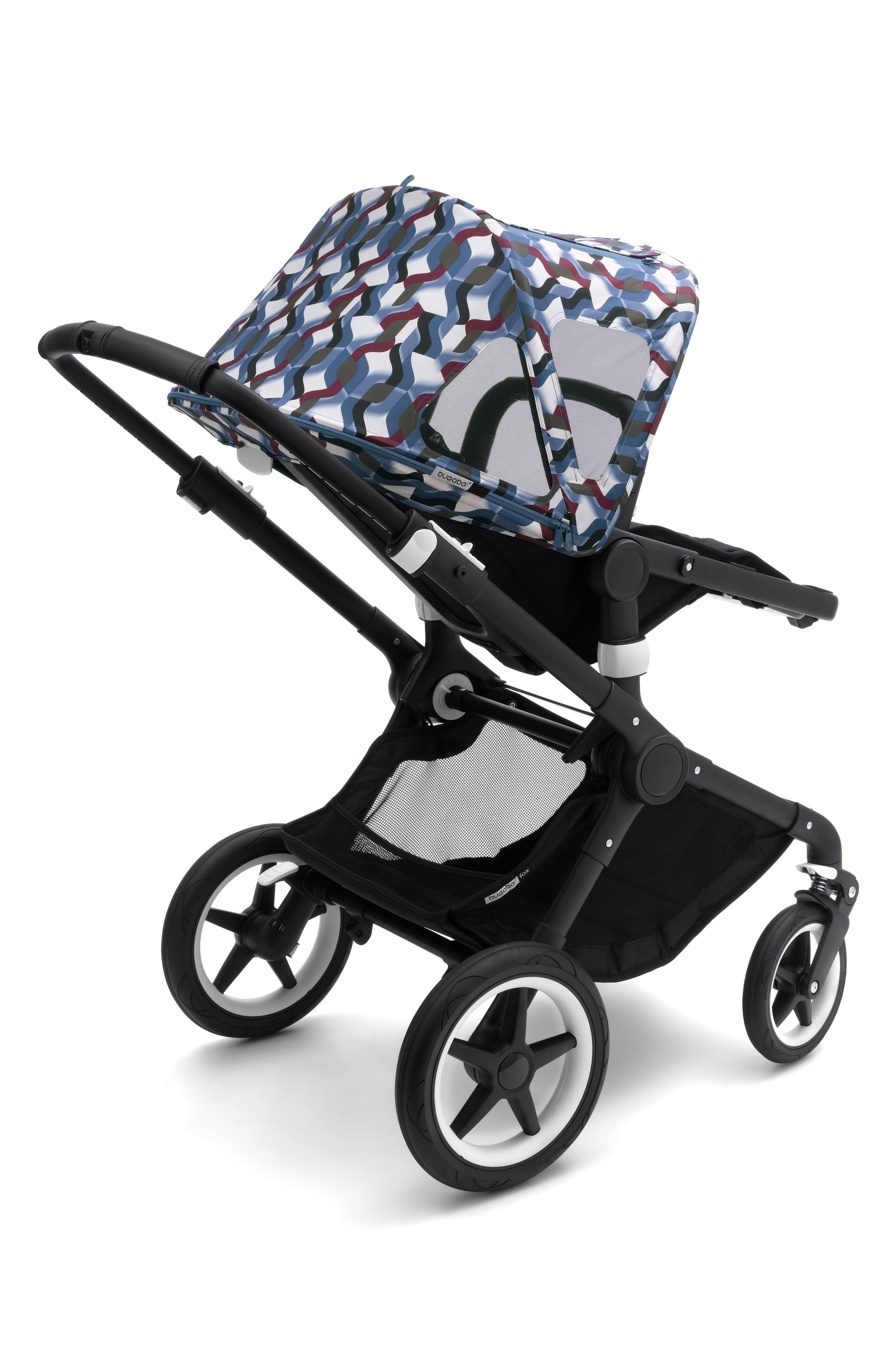 Breezy Waves Sun Canopy for Bugaboo Fox & Cameleon³ Strollers,                             Main thumbnail 1, color,                             WAVES PRINT