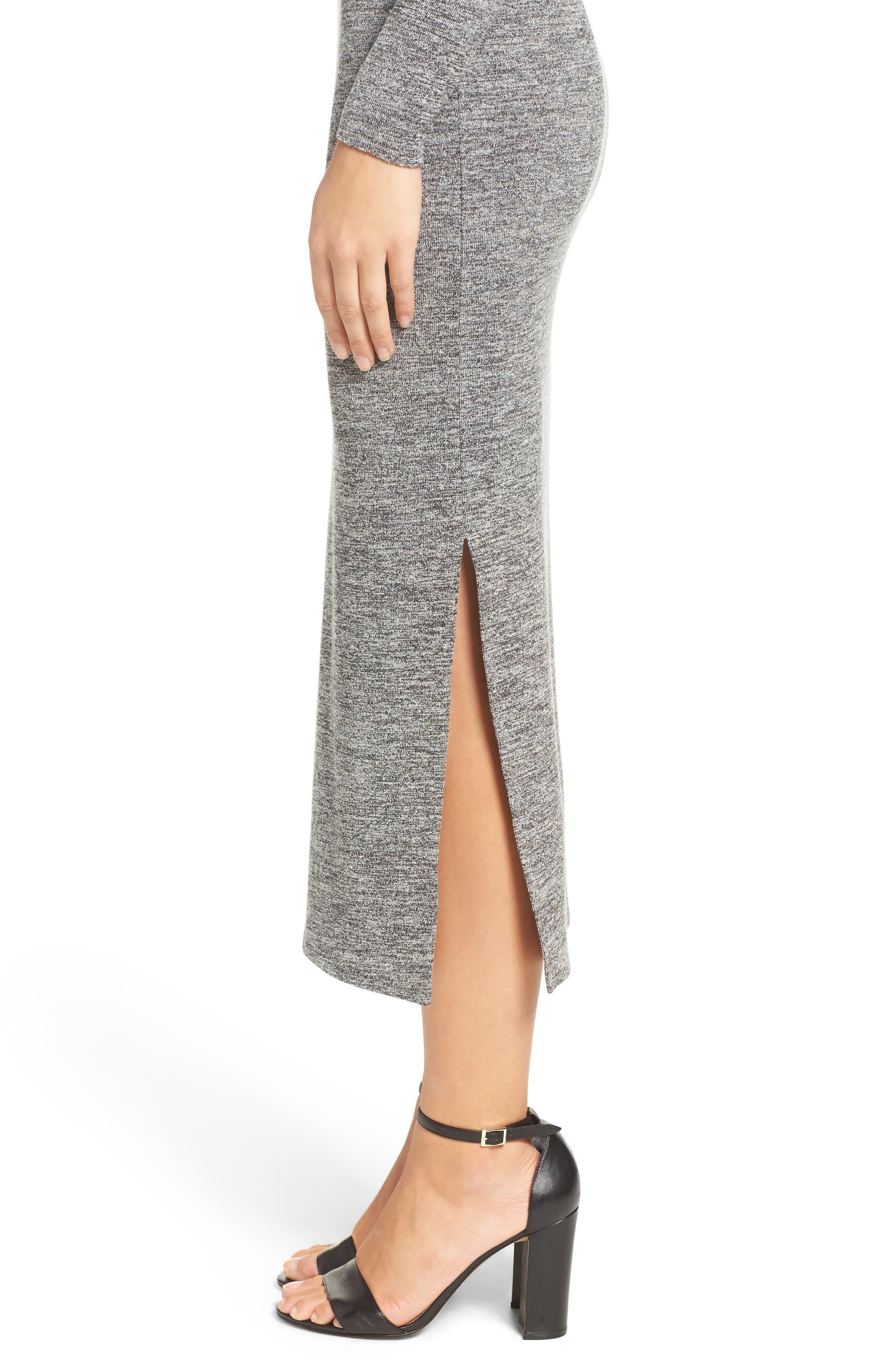 Sweater Maxi Dress,                             Alternate thumbnail 4, color,                             LIGHT GREY