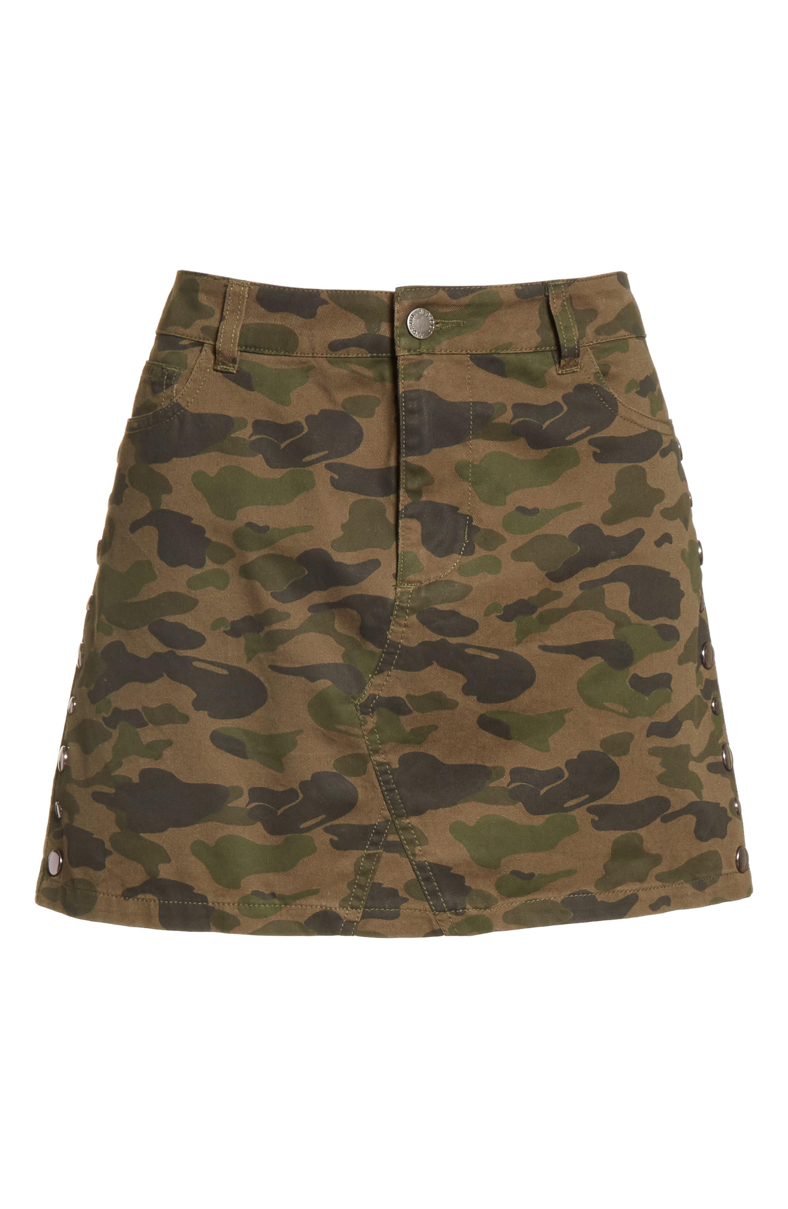 Dove Camo Miniskirt,                             Alternate thumbnail 6, color,                             303