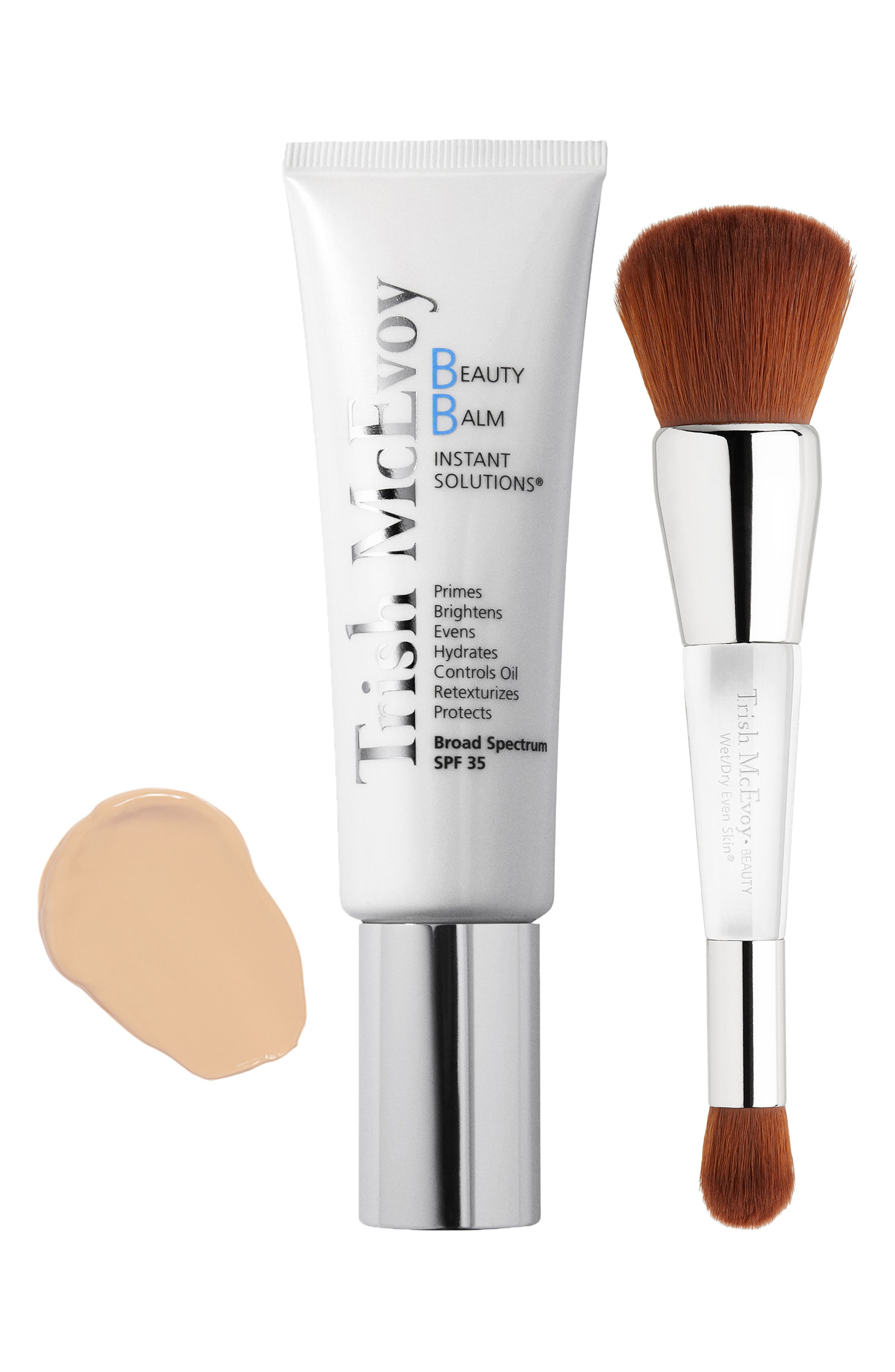 Beauty Balm & Wet/Dry Brush Set,                         Main,                         color, SHADE 1