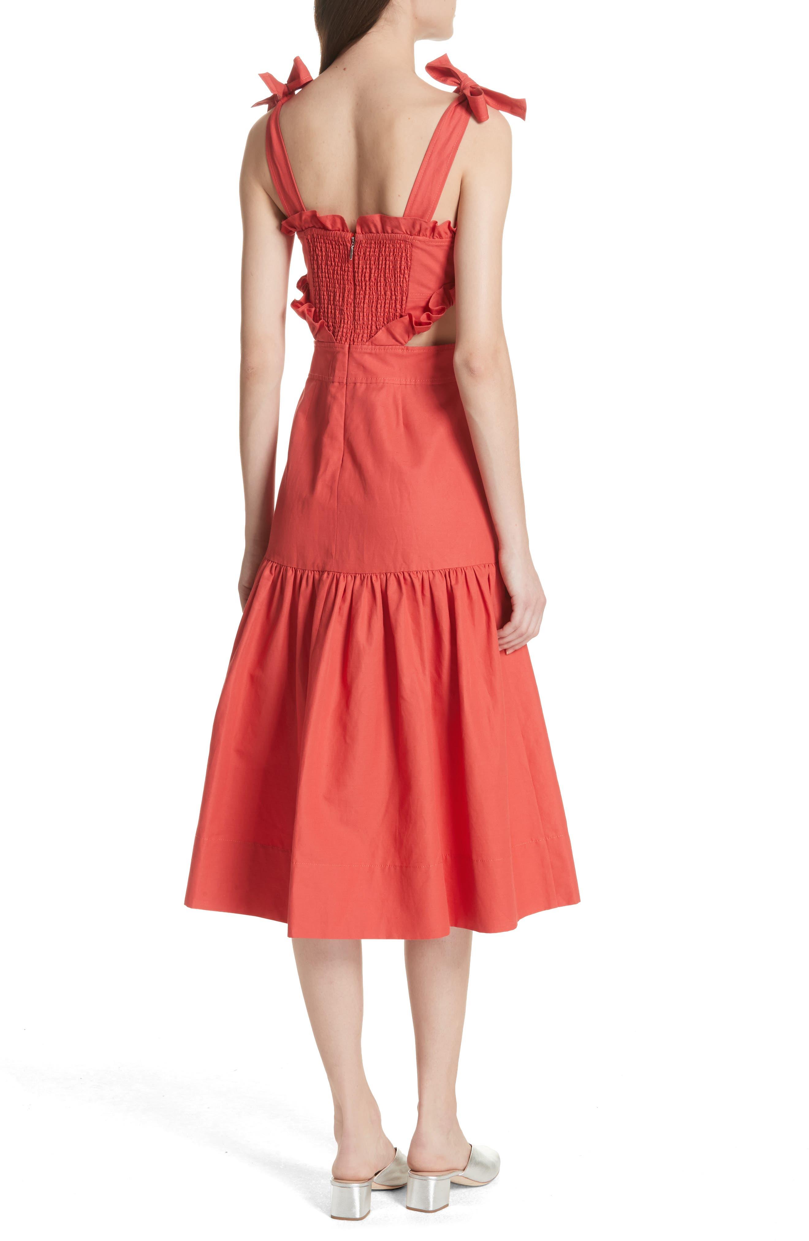 Sleeveless Ruffle Hem Dress,                             Alternate thumbnail 2, color,                             601