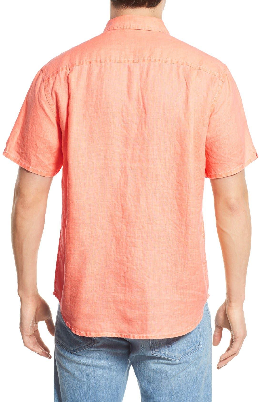 Seaglass Breezer Short Sleeve Linen Sport Shirt,                             Alternate thumbnail 30, color,